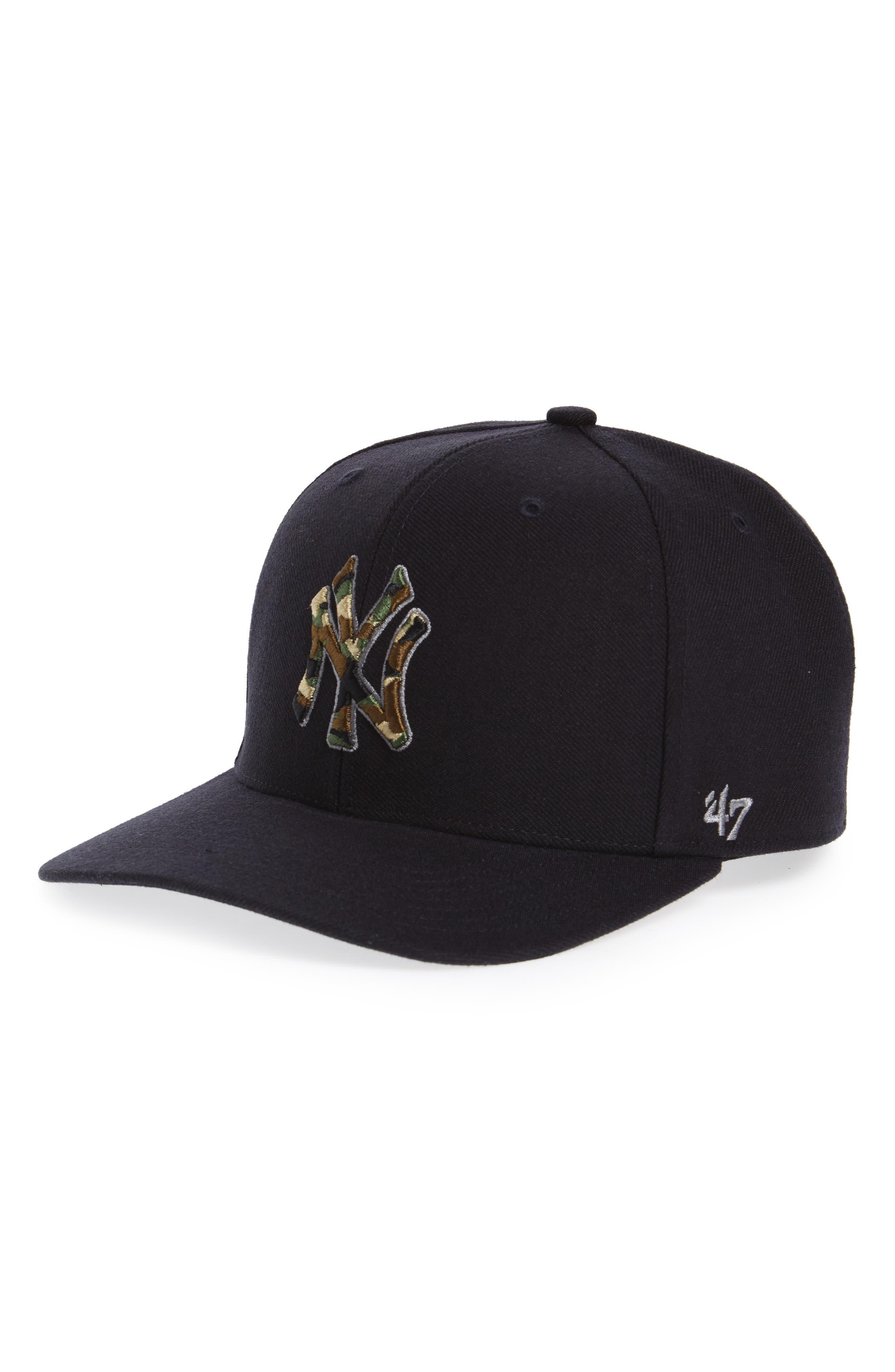 Camfill New York Yankees Baseball Cap,                             Main thumbnail 1, color,                             Navy