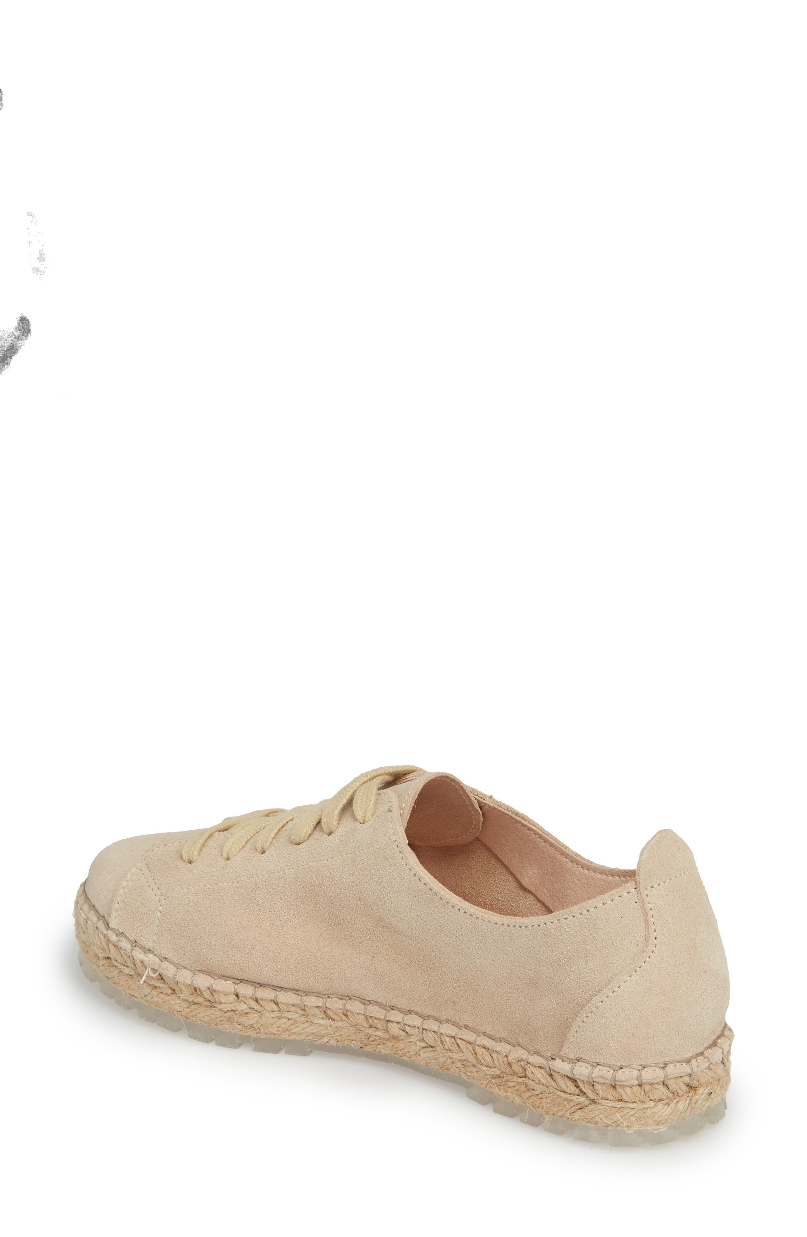 Zane Espadrille Sneaker,                             Alternate thumbnail 2, color,                             Taupe Suede