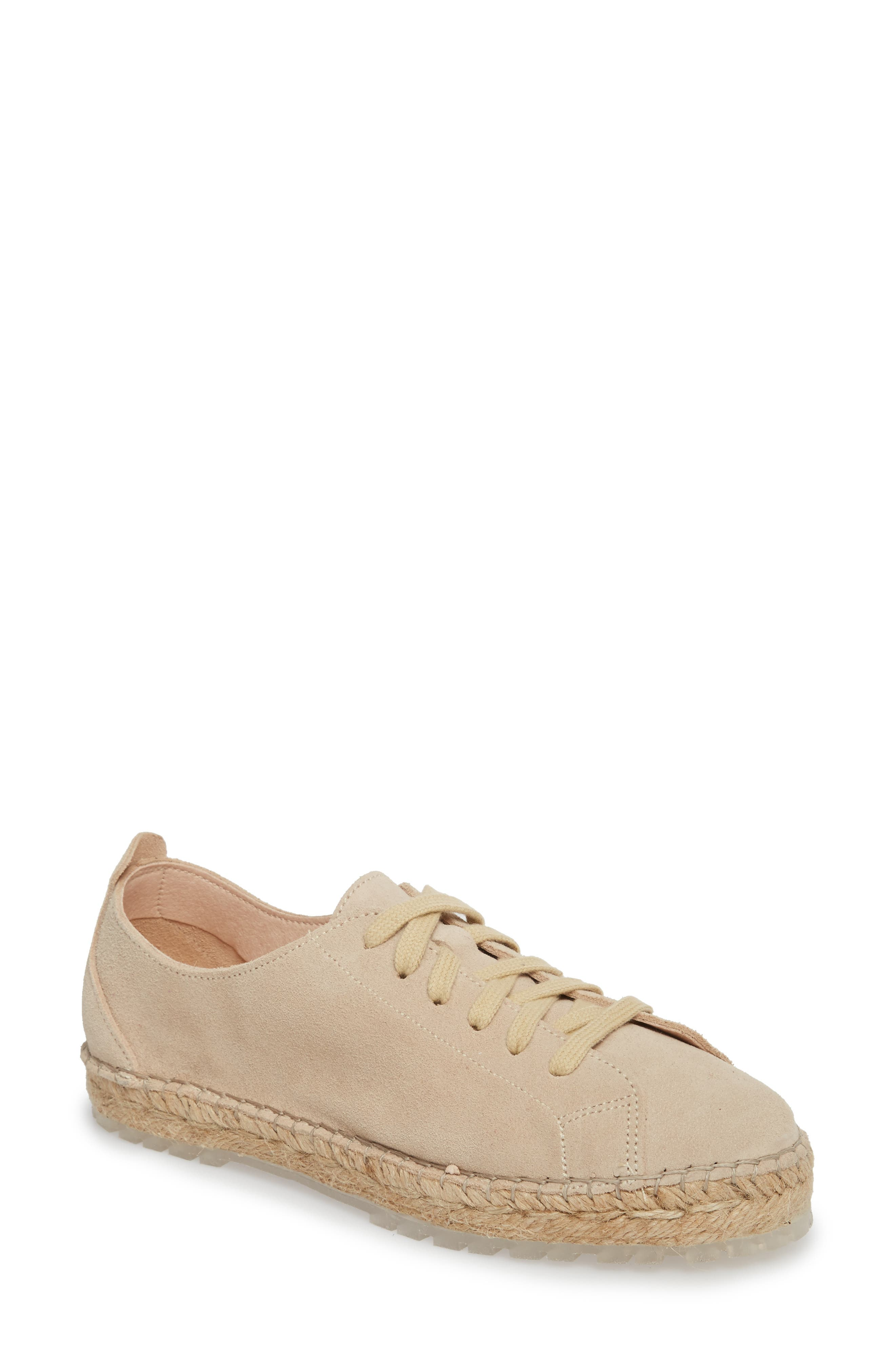 Zane Espadrille Sneaker,                             Main thumbnail 1, color,                             Taupe Suede