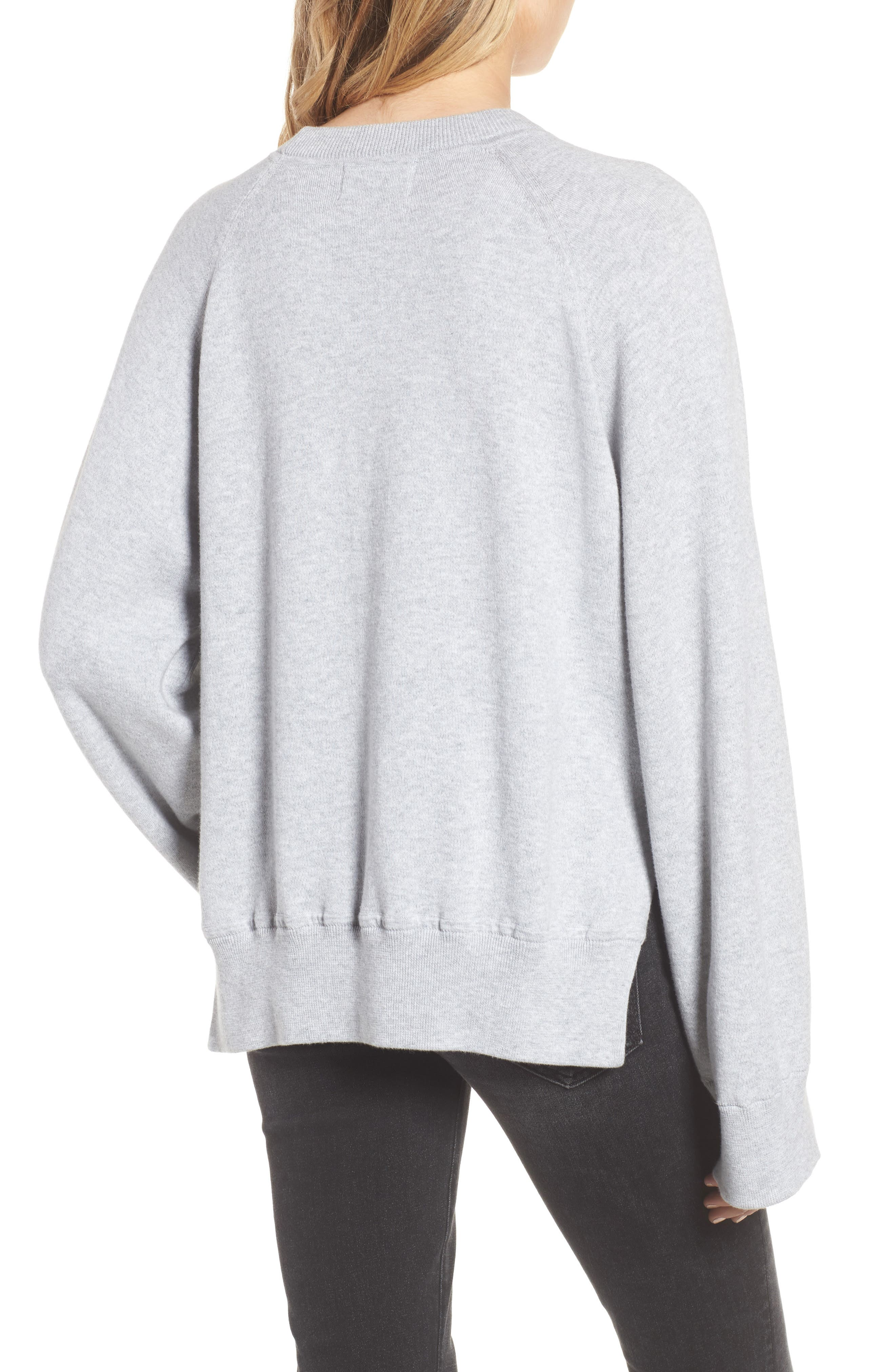 Lea Sweatshirt,                             Alternate thumbnail 2, color,                             Grey