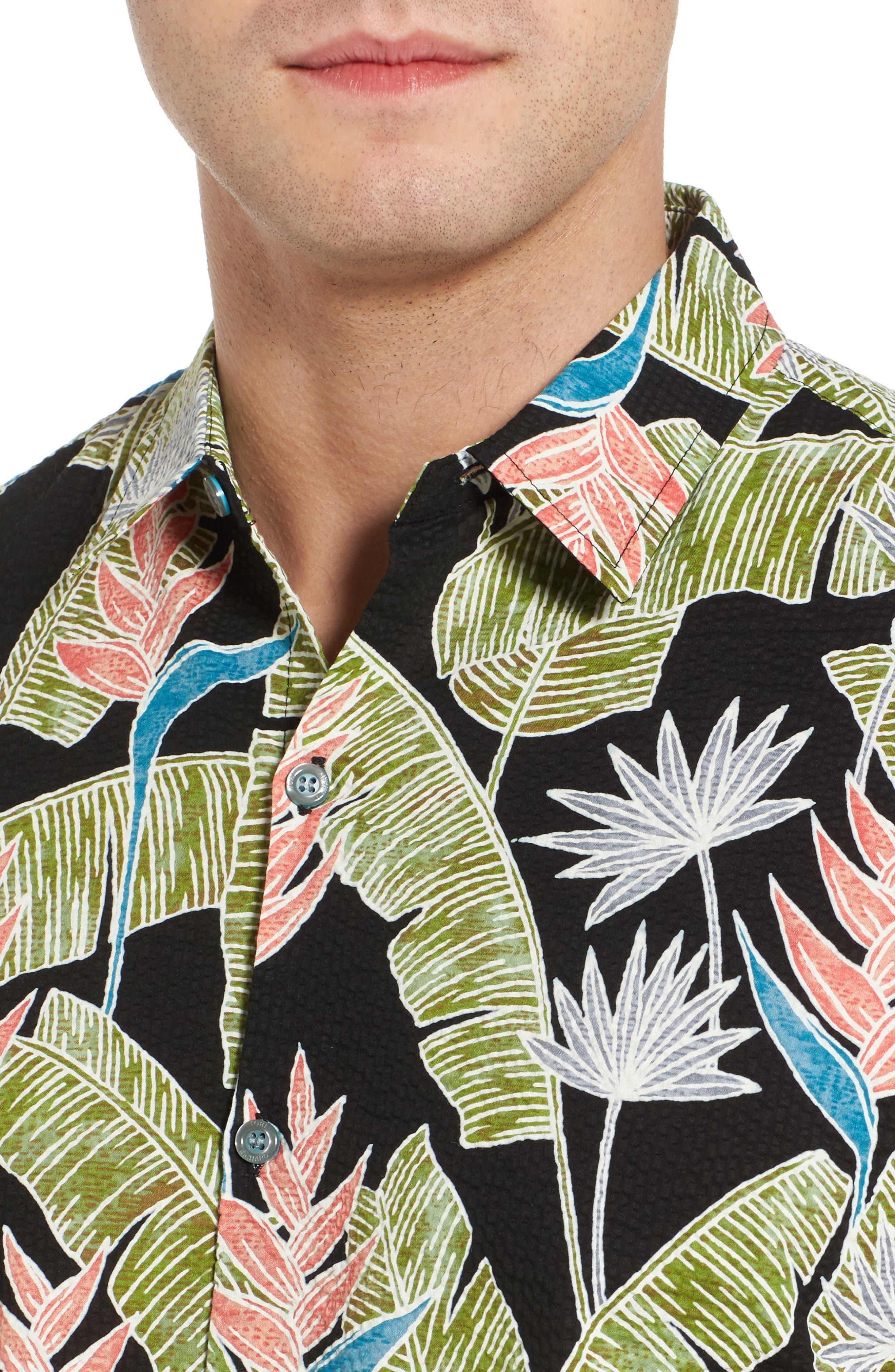 Alternate Image 4  - Tori Richard Sunbird Classic Fit Print Sport Shirt