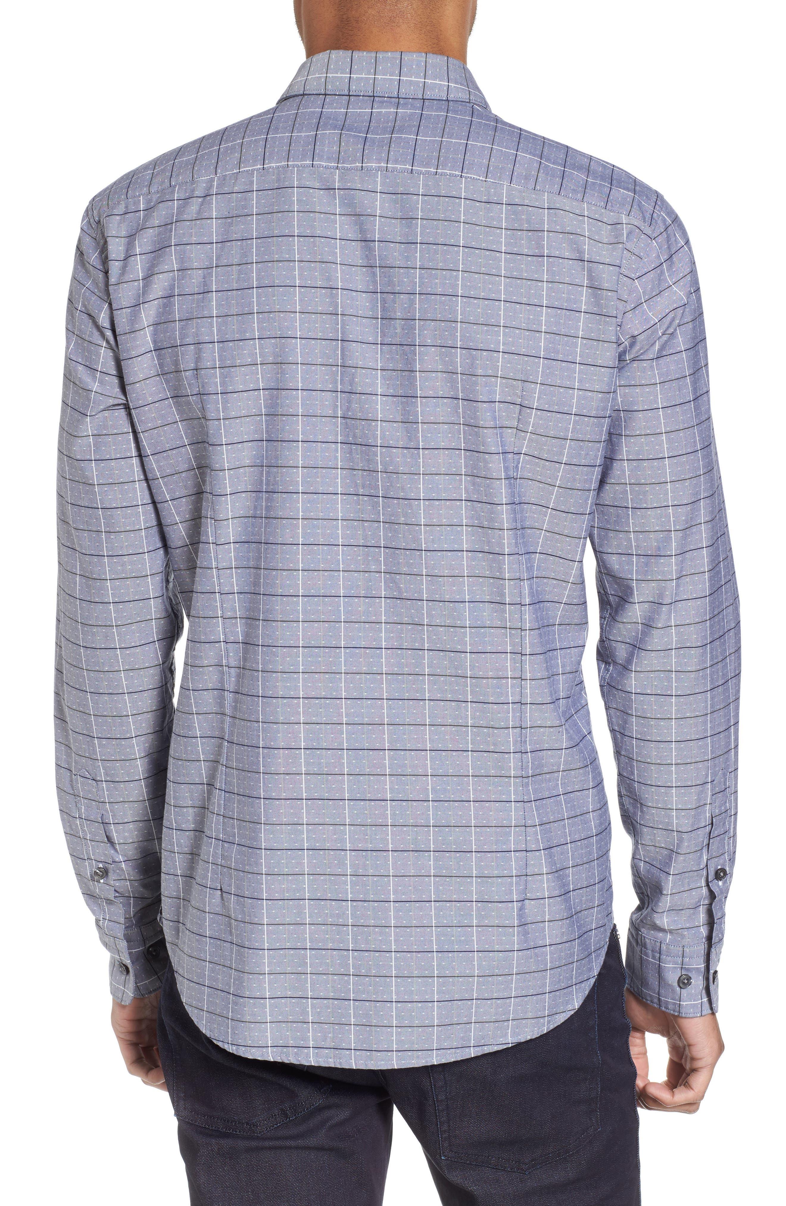 Ronni Slim Fit Check Sport Shirt,                             Alternate thumbnail 2, color,                             Blue