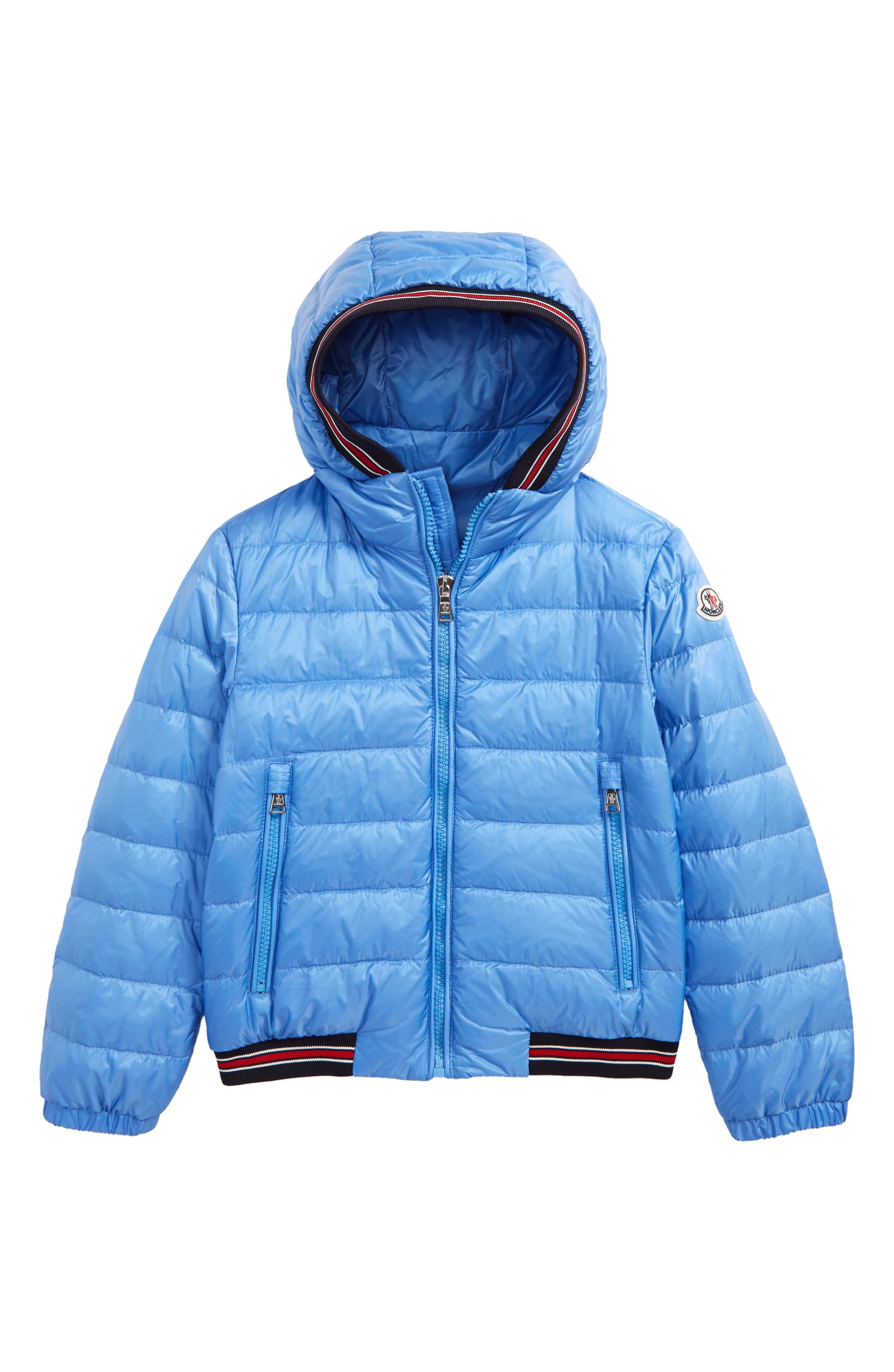 Eliot Hooded Goose Down Jacket,                             Main thumbnail 1, color,                             Pastel Blue