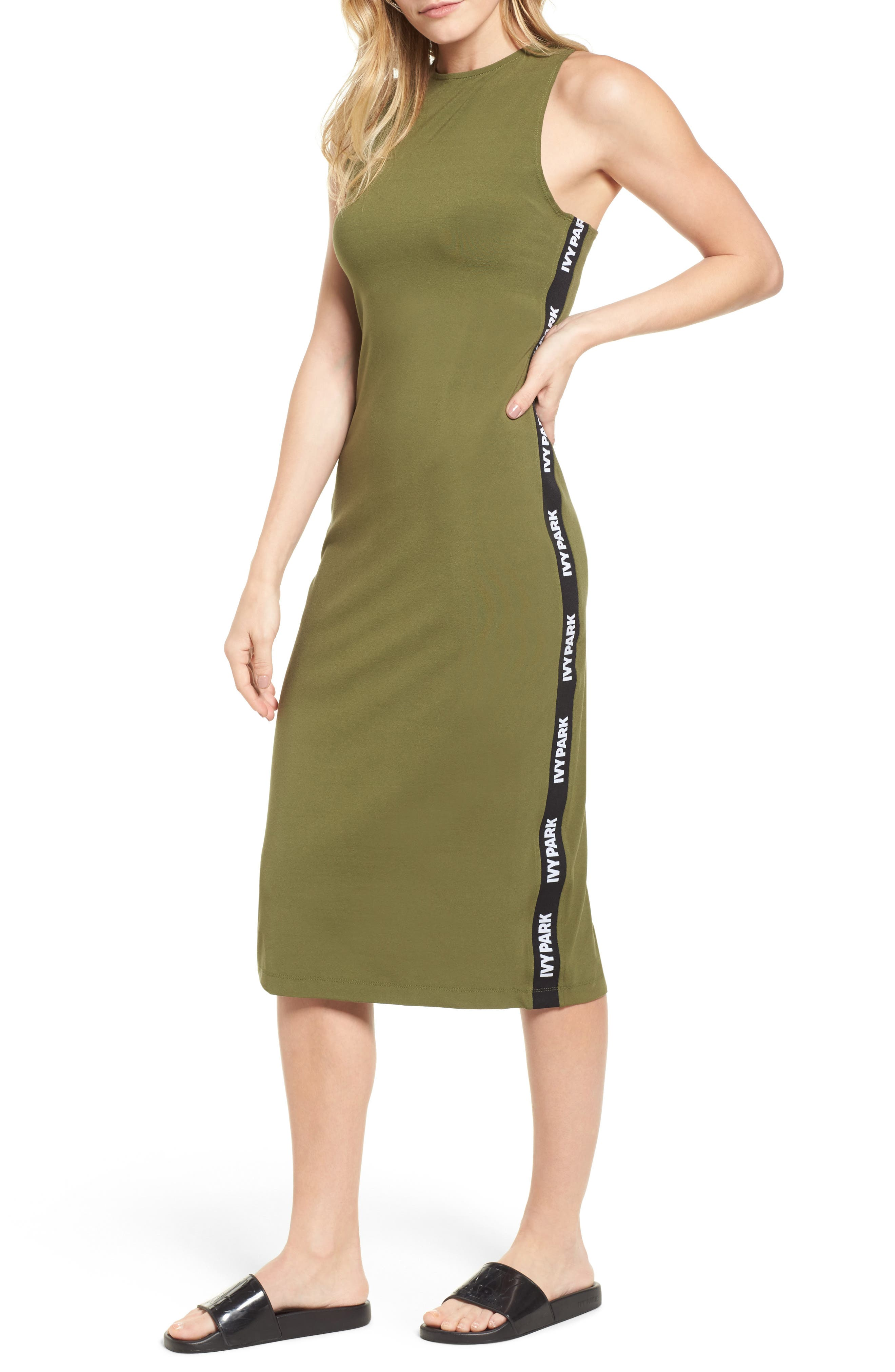 Alternate Image 1 Selected - IVY PARK® Logo Tape Dress