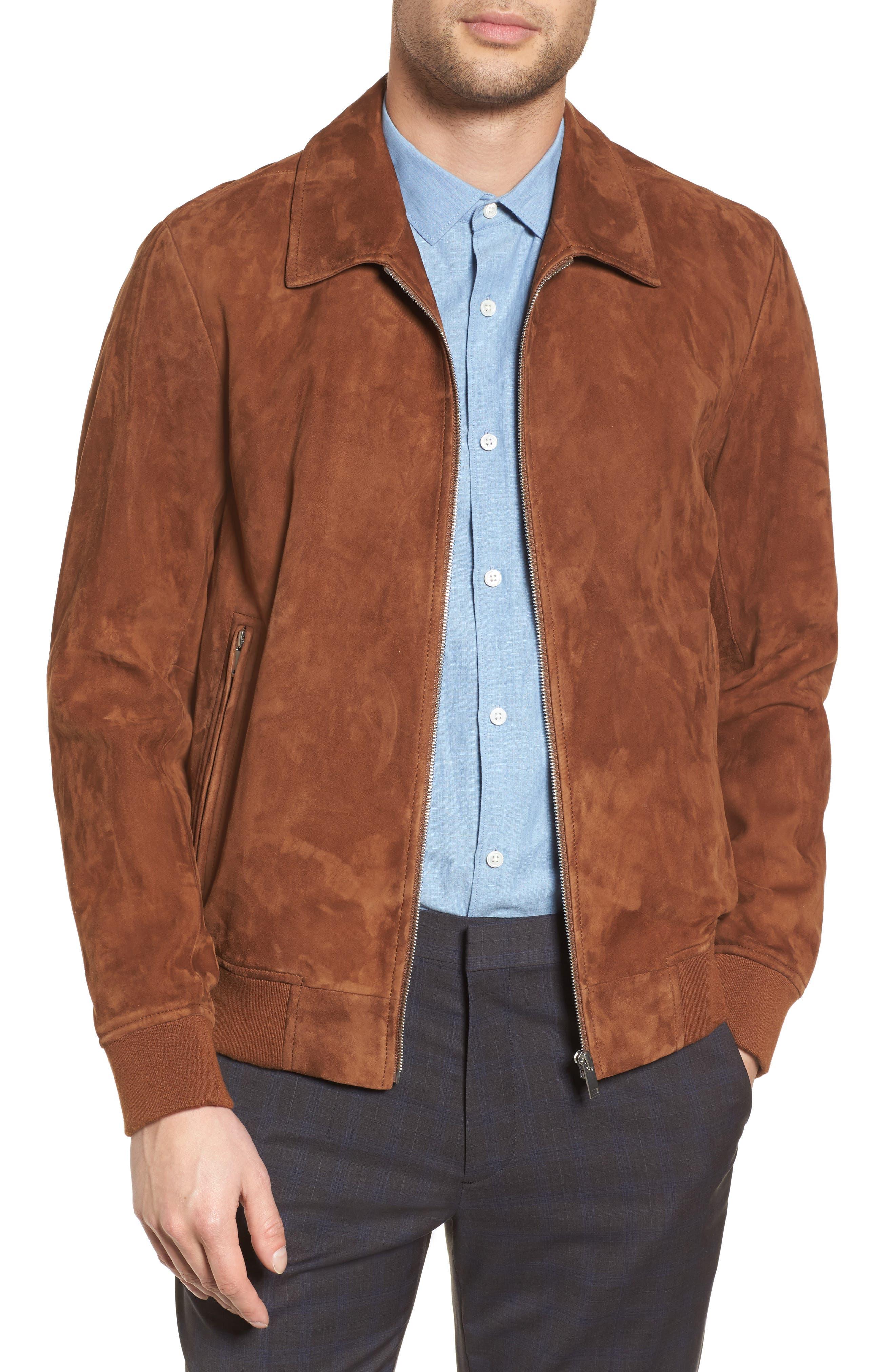Noland Radic Lambskin Jacket,                             Main thumbnail 1, color,                             Tobacco
