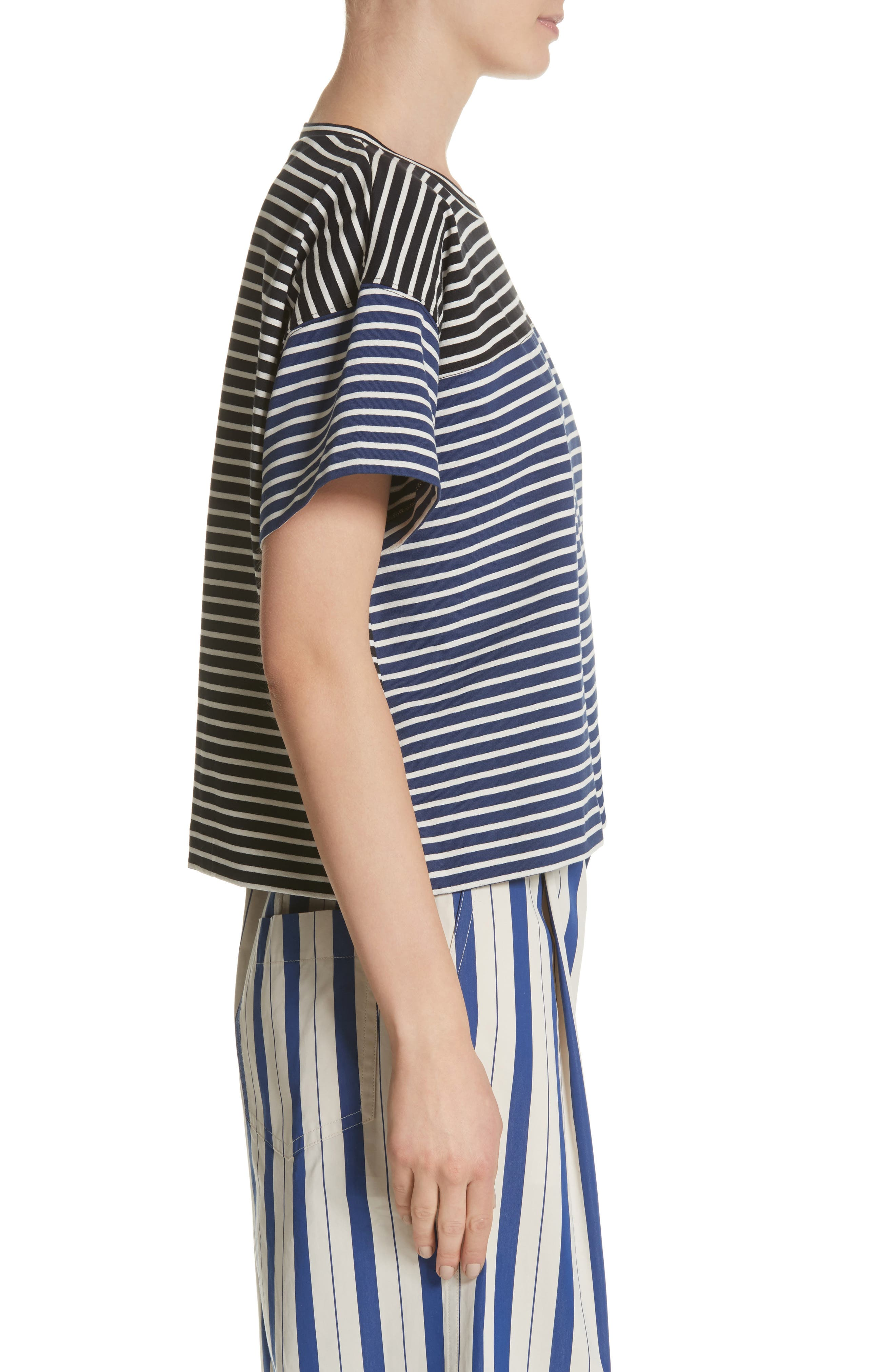 Nautical Stripe Tee,                             Alternate thumbnail 3, color,                             1 Navy/ Blumarine