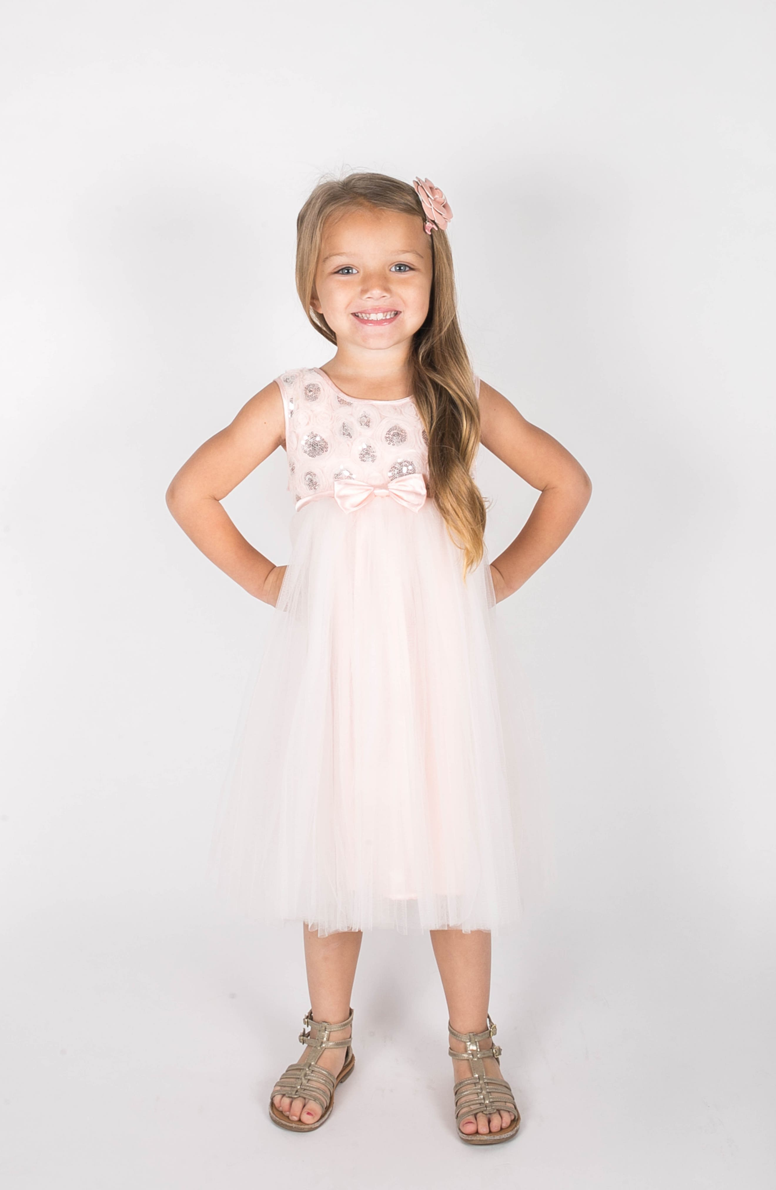 Sequin Tulle Dress,                             Alternate thumbnail 2, color,                             Pink