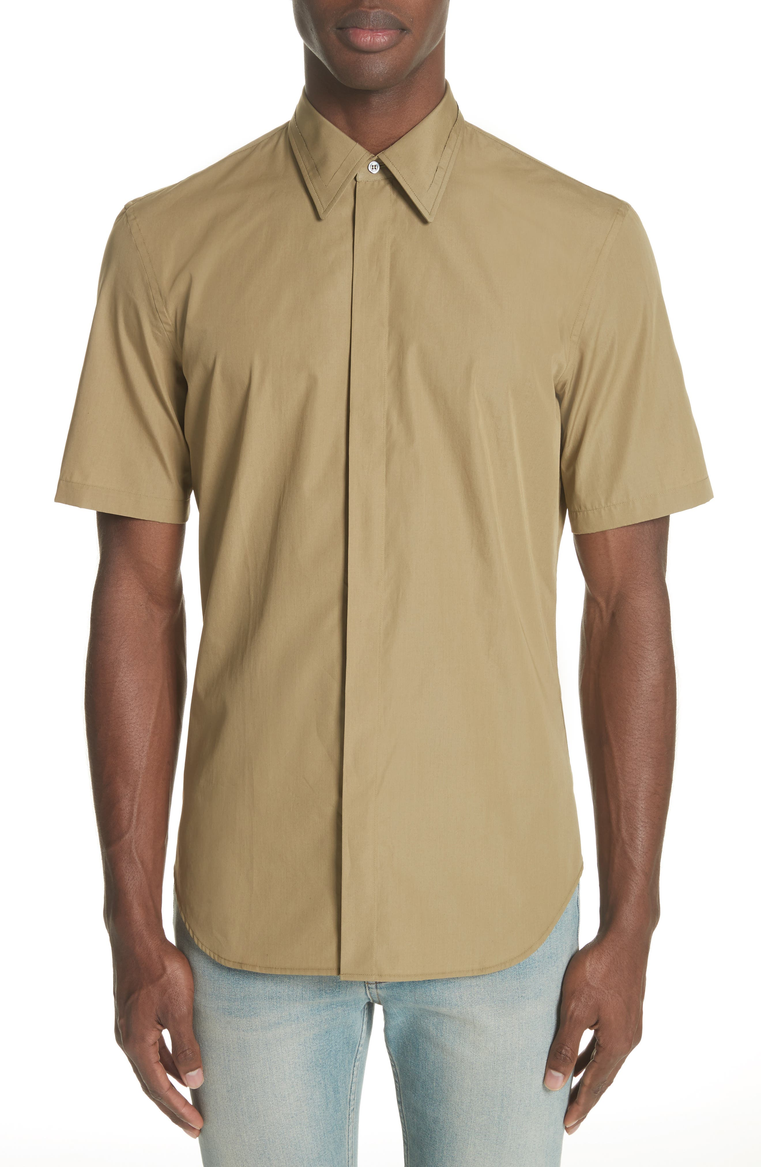 Main Image - MM6 Maison Margiela Poplin Short Sleeve Woven Shirt