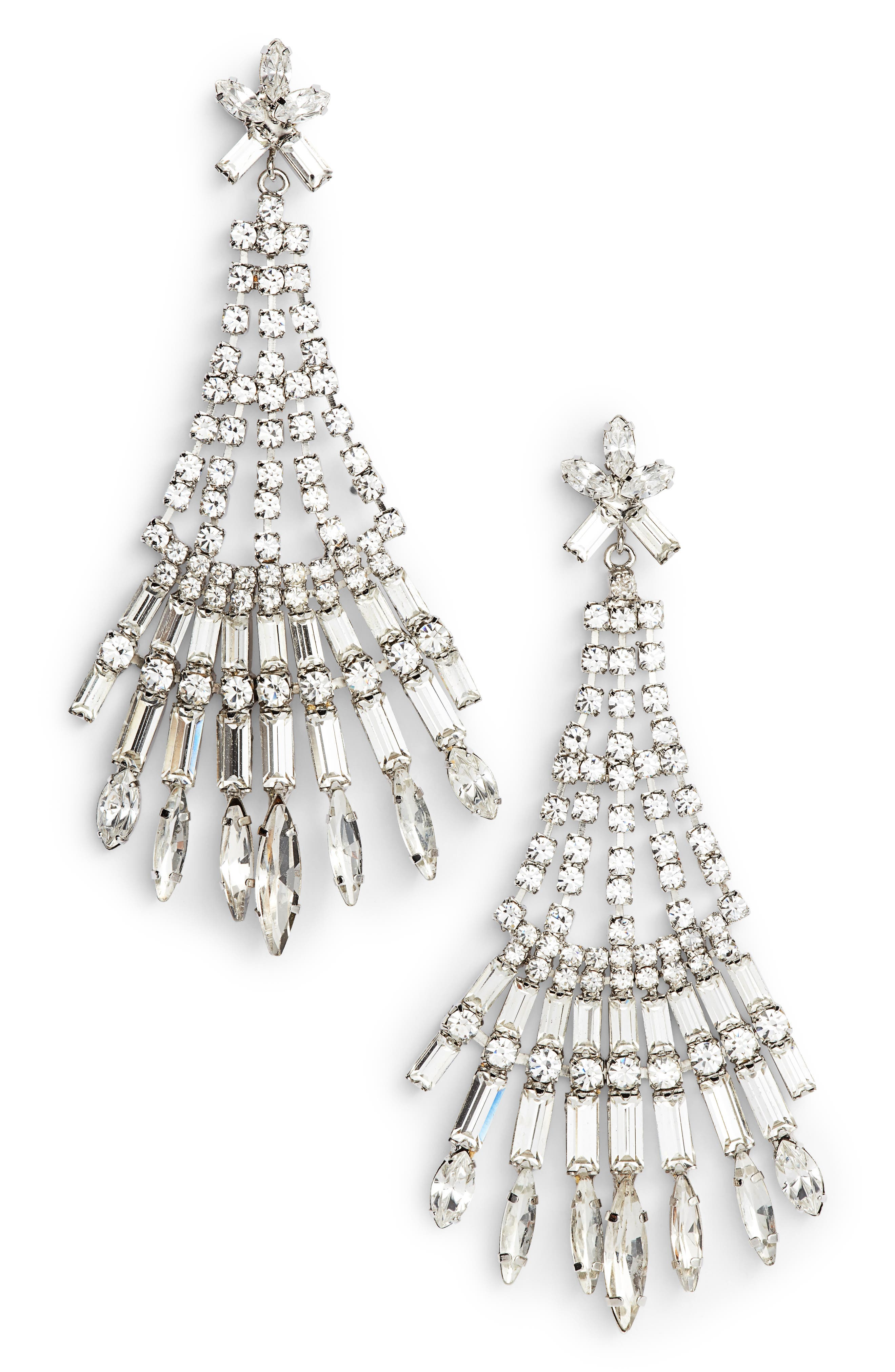 Alternate Image 1 Selected - CRISTABELLE Crystal Drop Earrings
