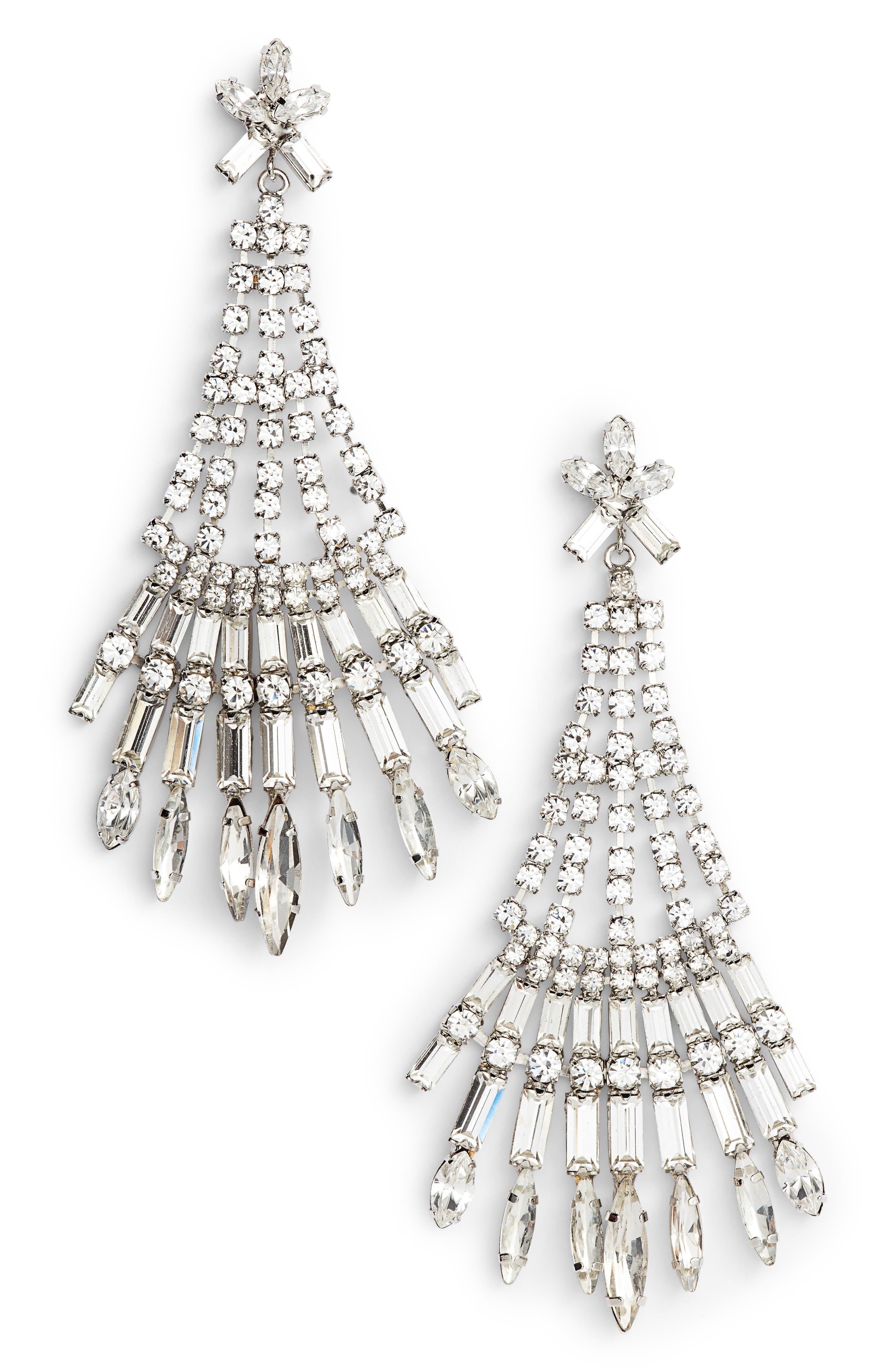 Main Image - CRISTABELLE Crystal Drop Earrings