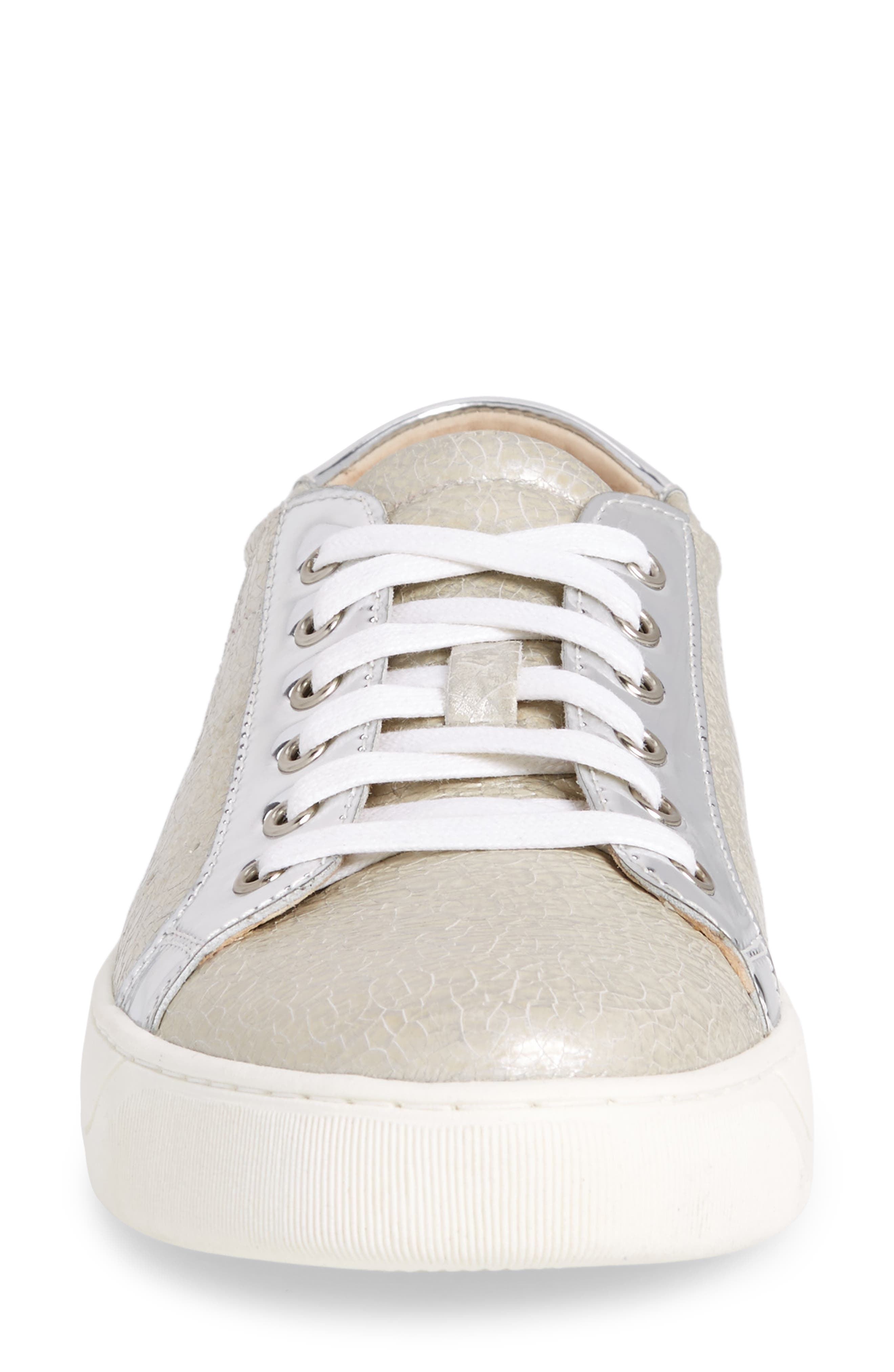 'Emerson' Sneaker,                             Alternate thumbnail 4, color,                             Ice Crackle Leather