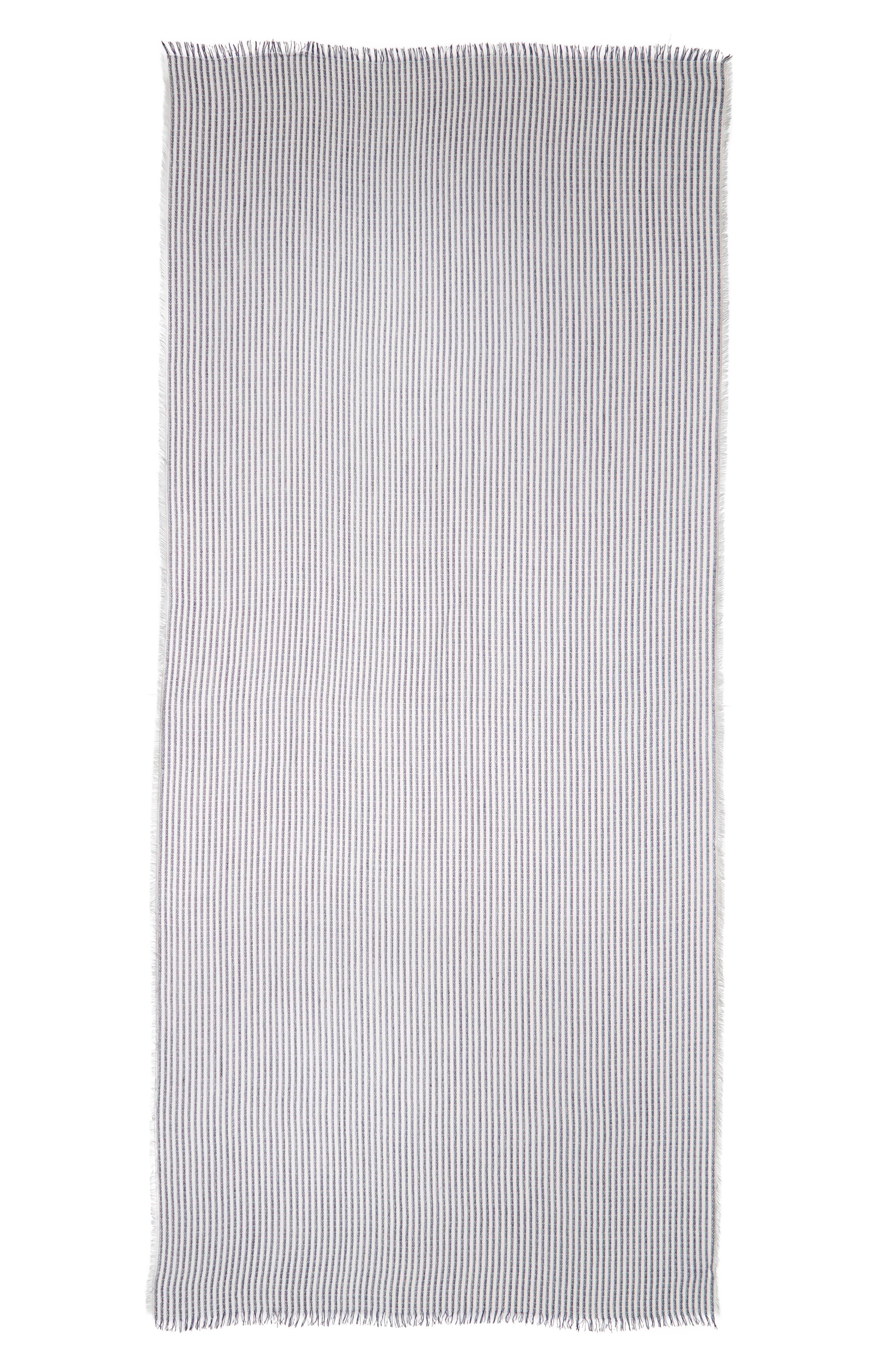 Alternate Image 2  - BP Stripe Fringe Oblong Scarf