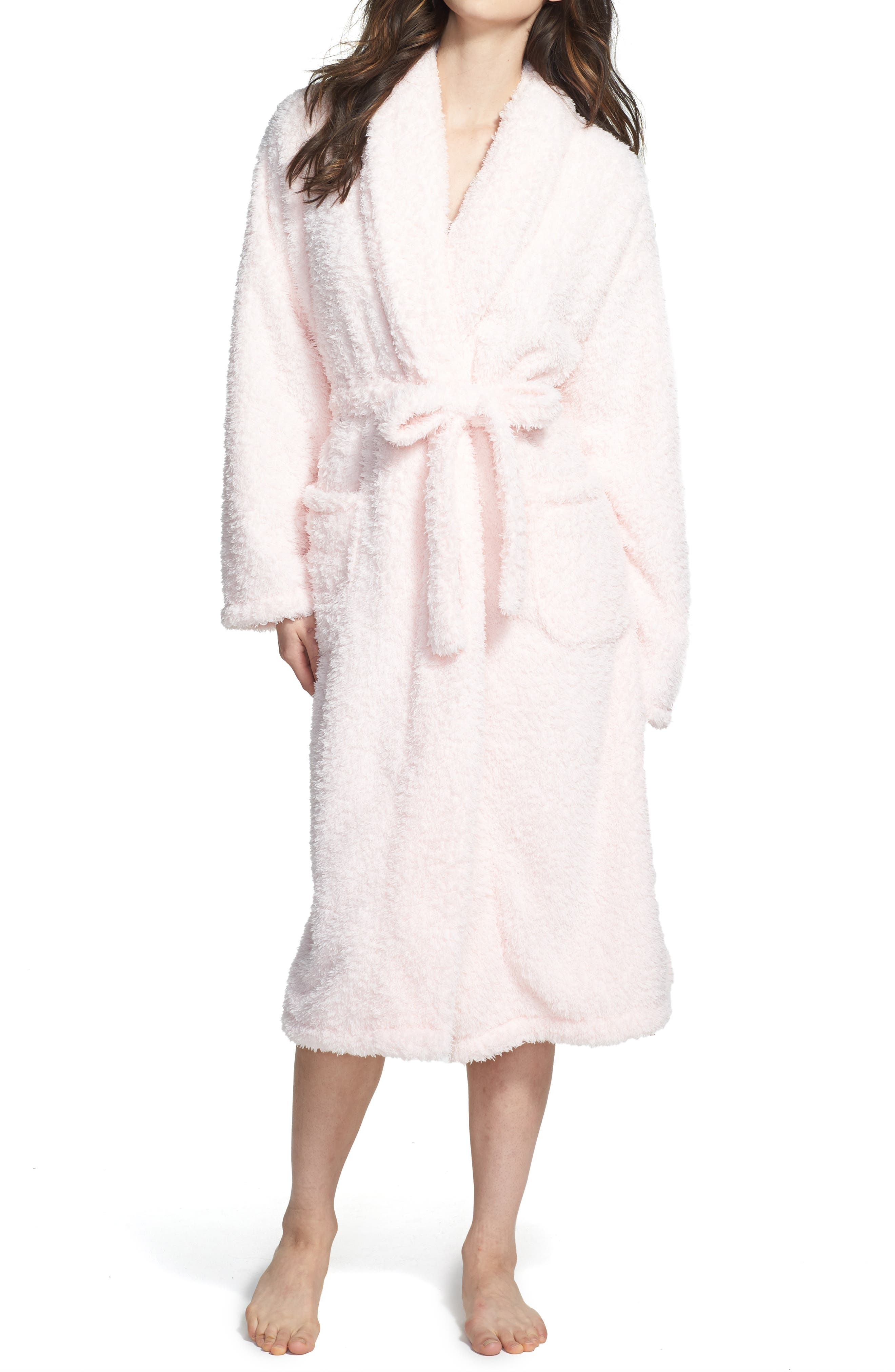 Chenille Robe,                             Main thumbnail 1, color,                             Pink