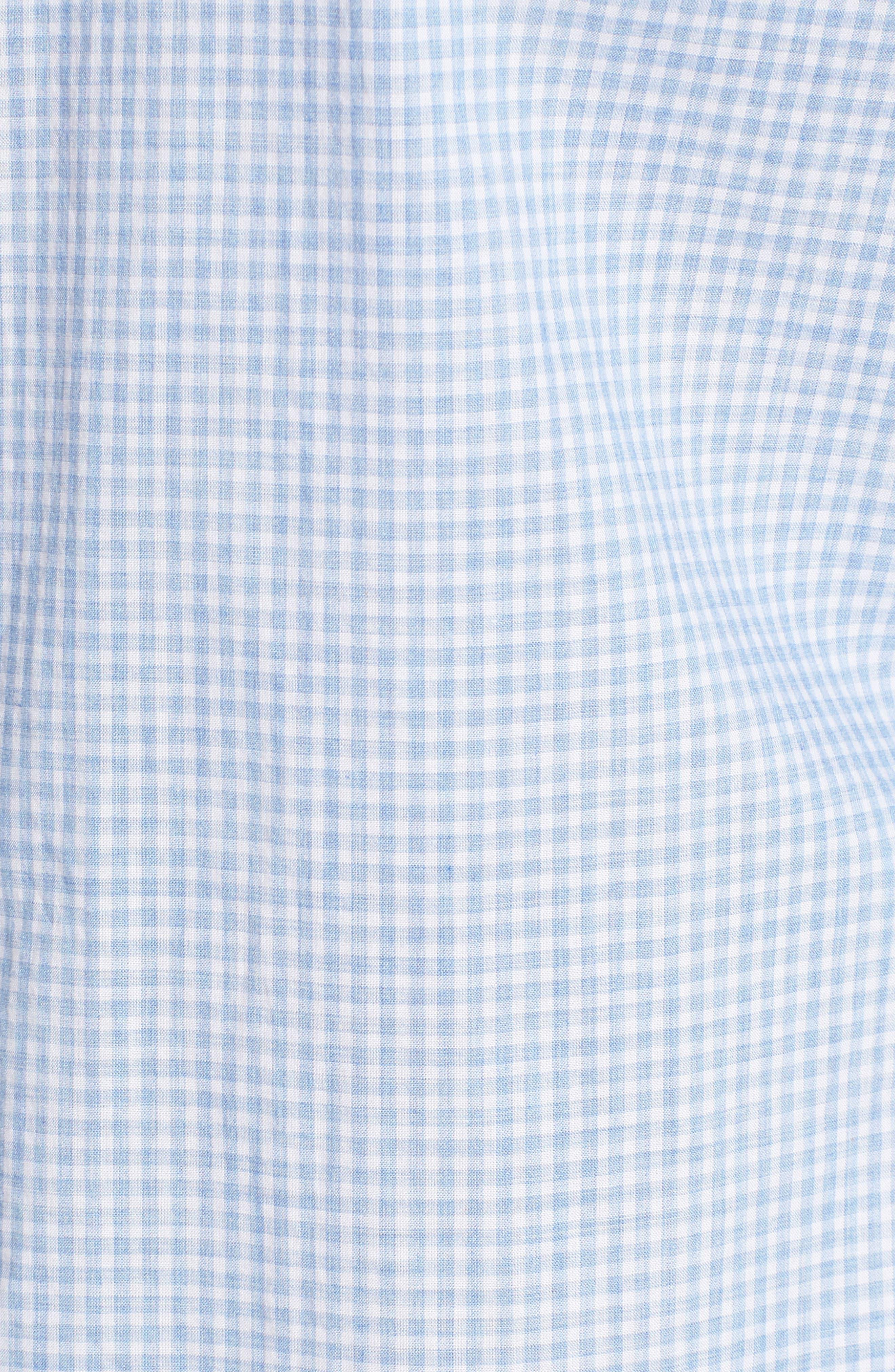 McGarry Gingham Sport Shirt,                             Alternate thumbnail 5, color,                             Light Blue