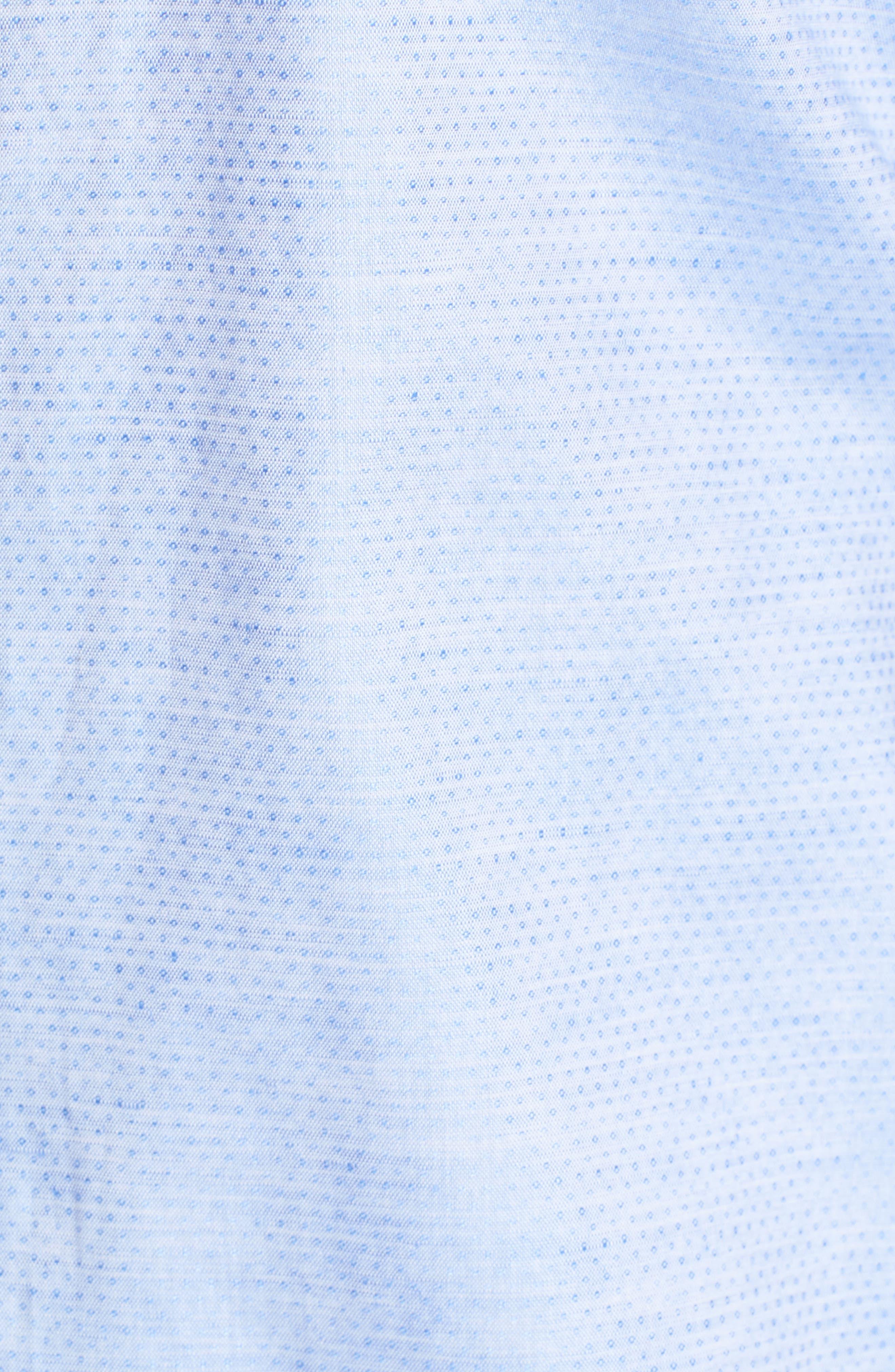Gomis Regular Fit Dobby Sport Shirt,                             Alternate thumbnail 5, color,                             Light Blue