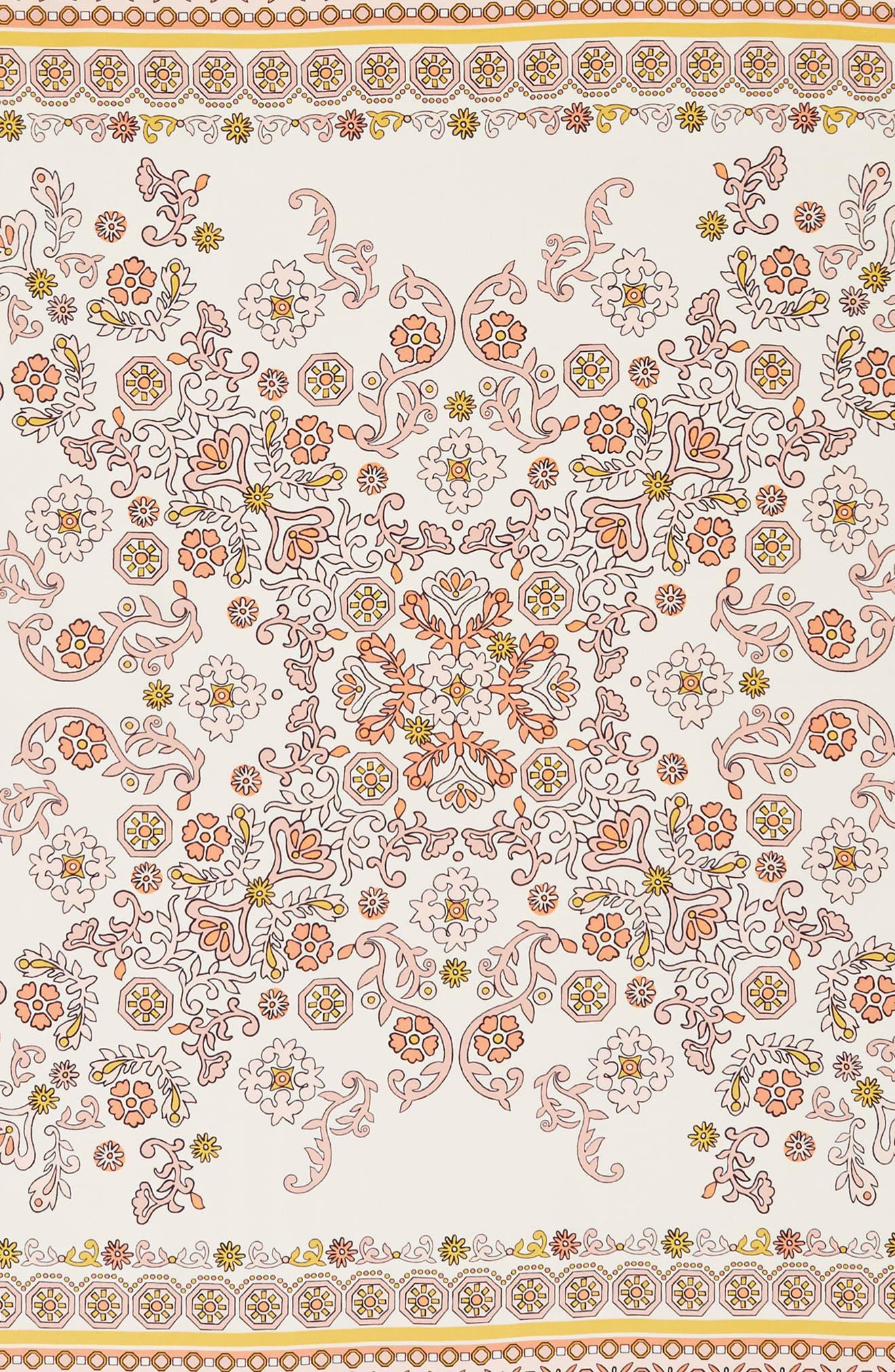 Hicks Garden Fringed Silk Scarf,                             Alternate thumbnail 4, color,                             Neutral
