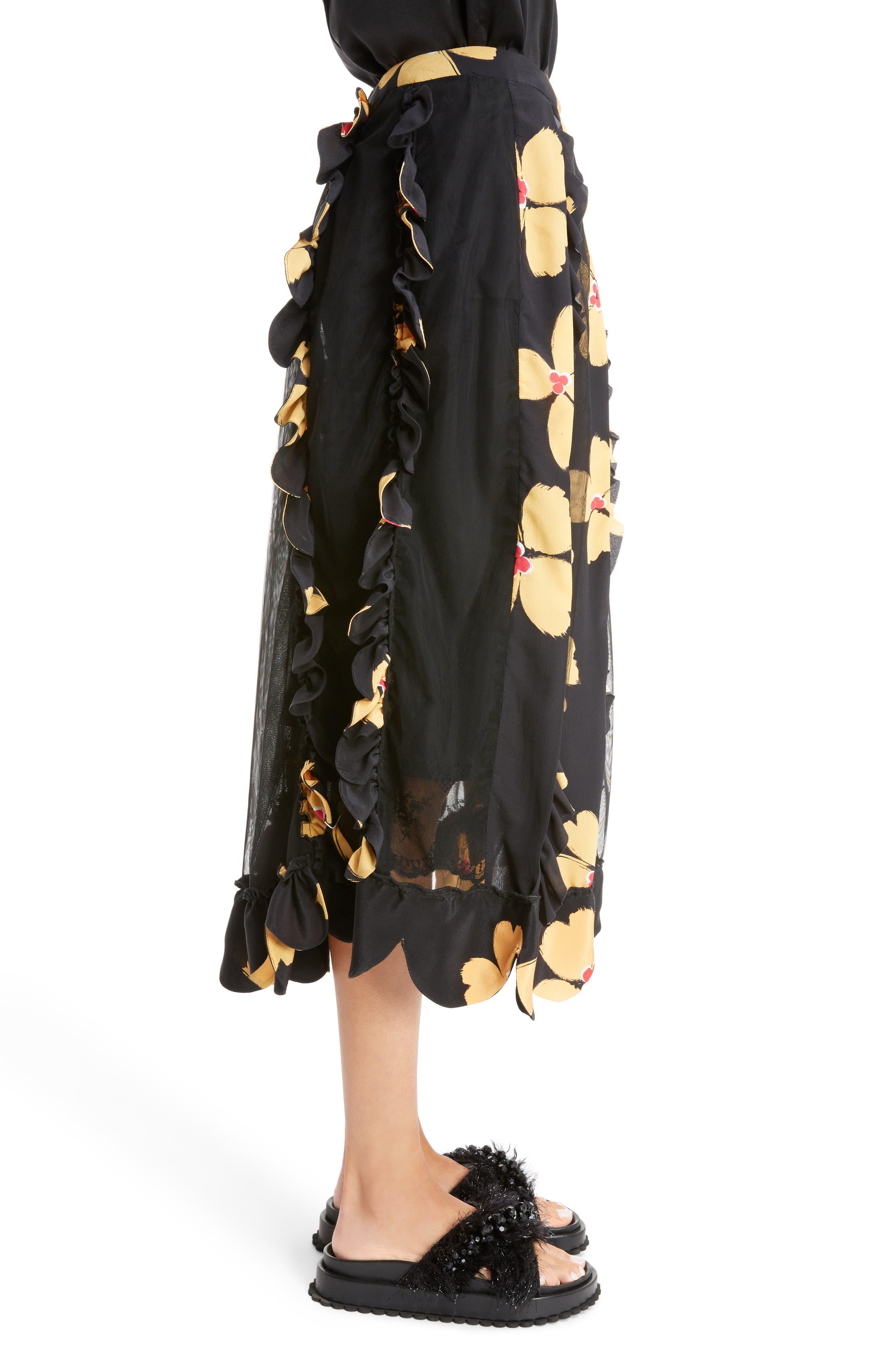 Alternate Image 3  - Simone Rocha Turbo Pleat Floral Silk Wrap Skirt