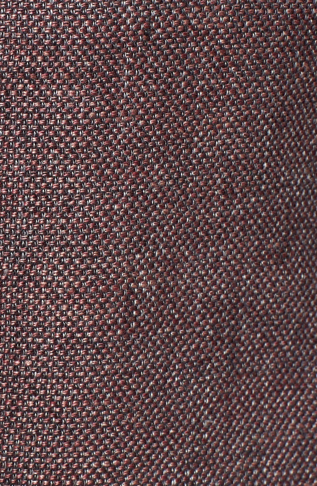 Kyle Trim Fit Linen & Wool Blazer,                             Alternate thumbnail 5, color,                             Light Brick