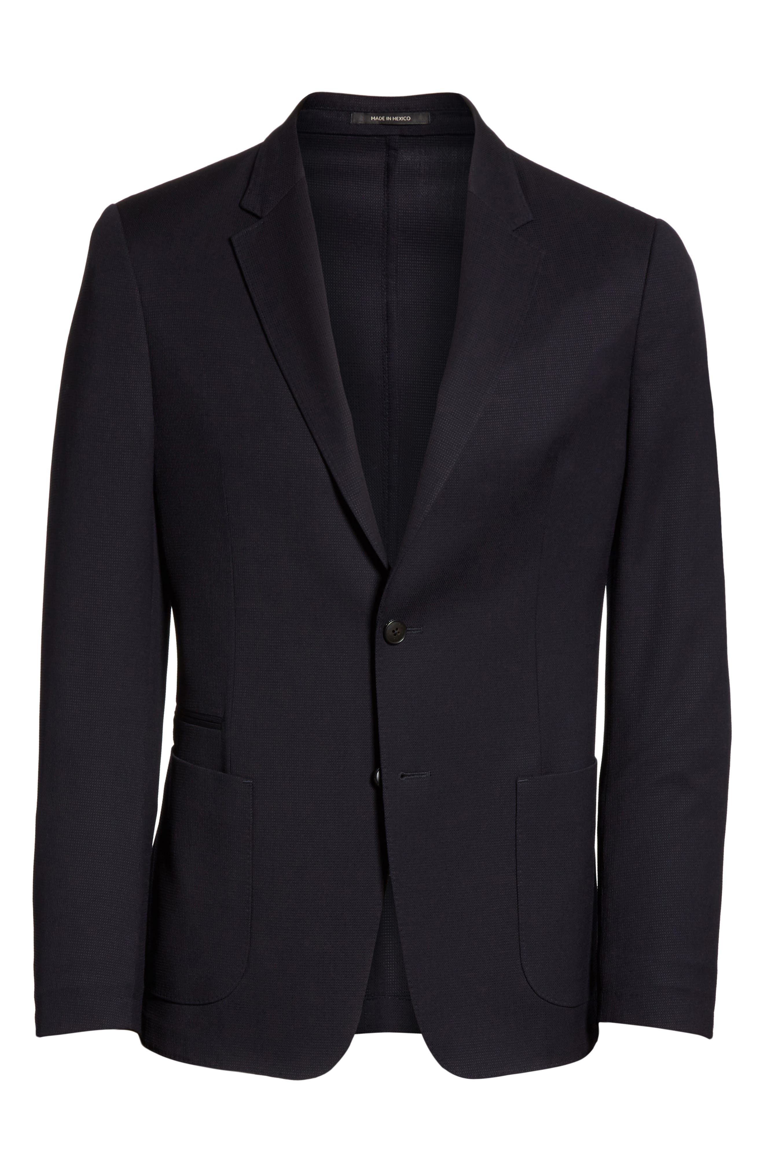 TECHMERINO<sup>™</sup> Wash & Go Classic Fit Wool Blazer,                             Alternate thumbnail 6, color,                             Navy Solid
