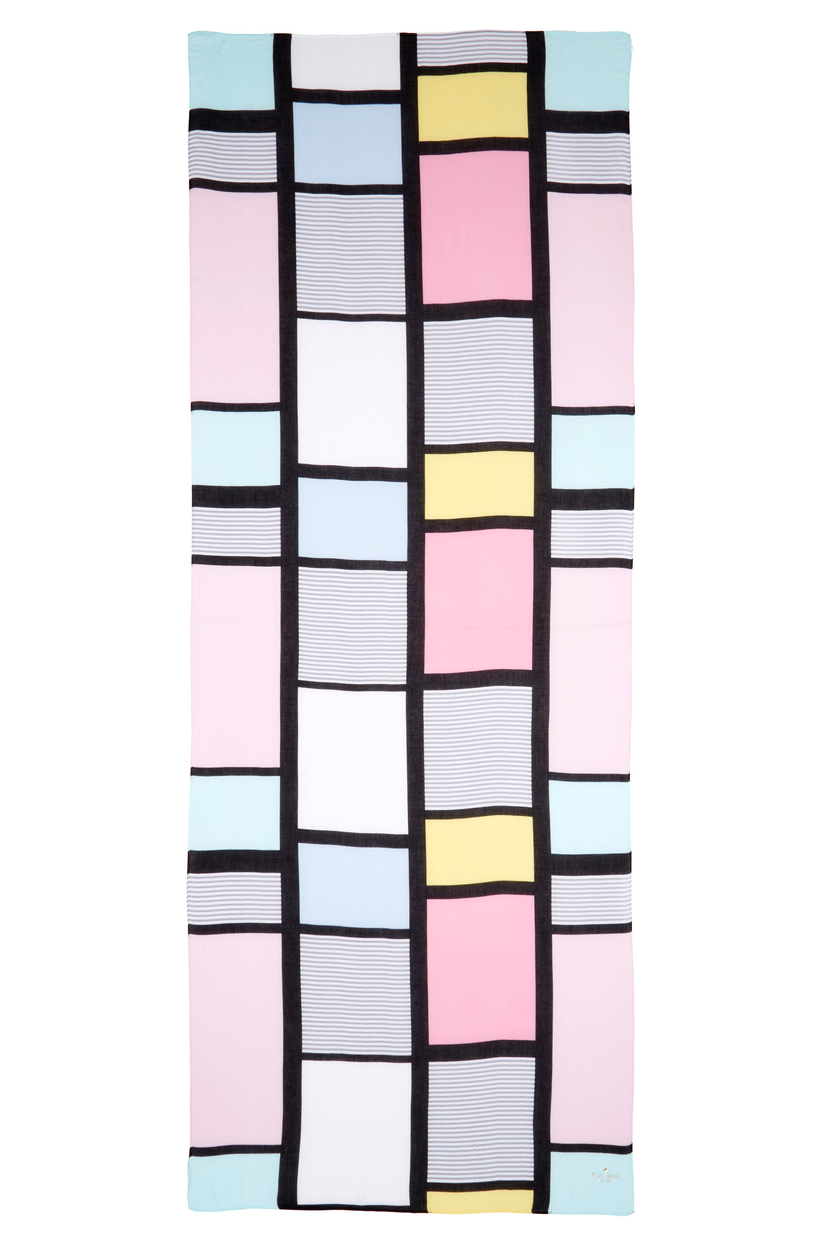Alternate Image 2  - kate spade new york colorblock oblong scarf