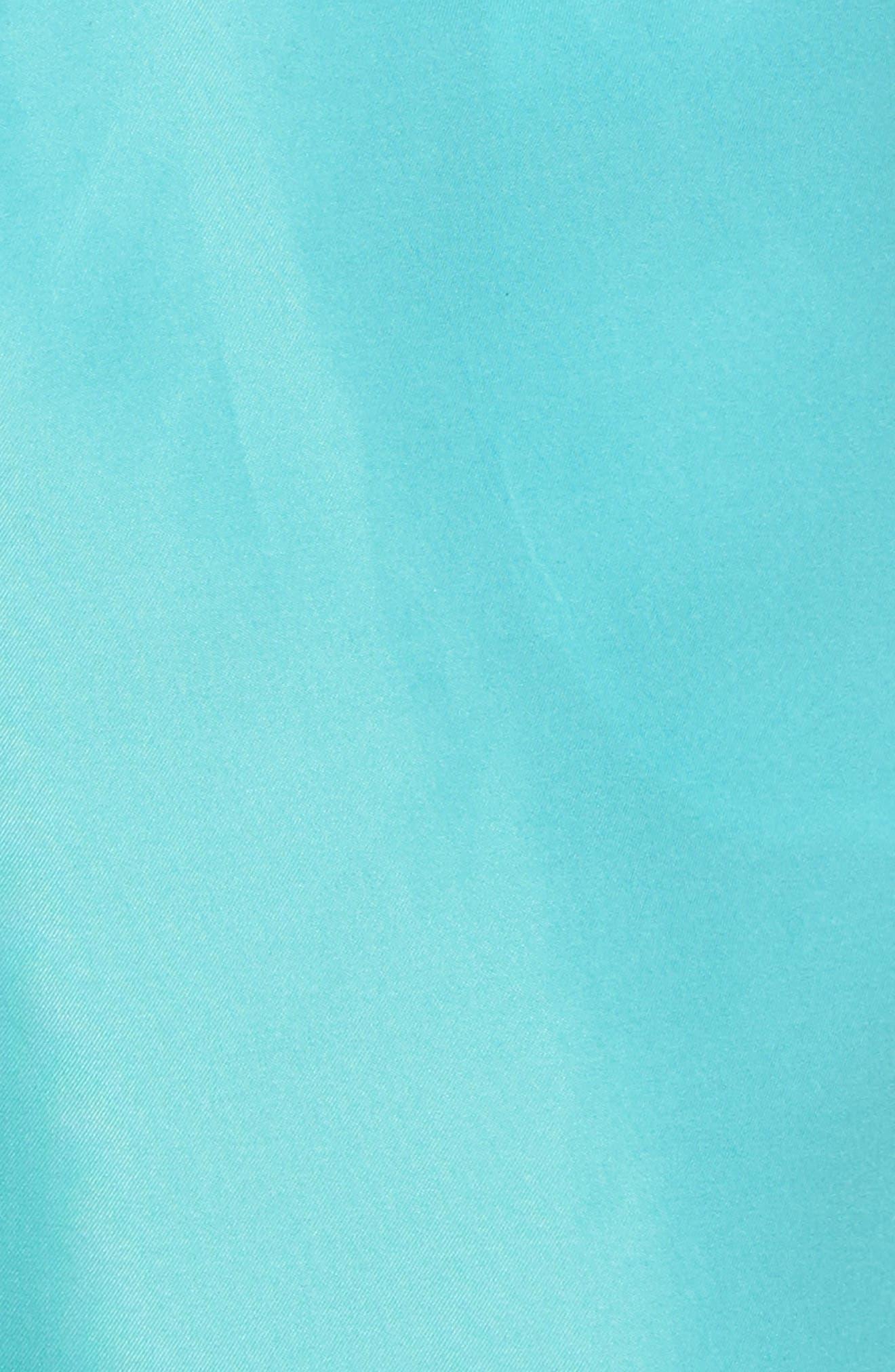 San O Swim Trunks,                             Alternate thumbnail 5, color,                             Sea Green/ White