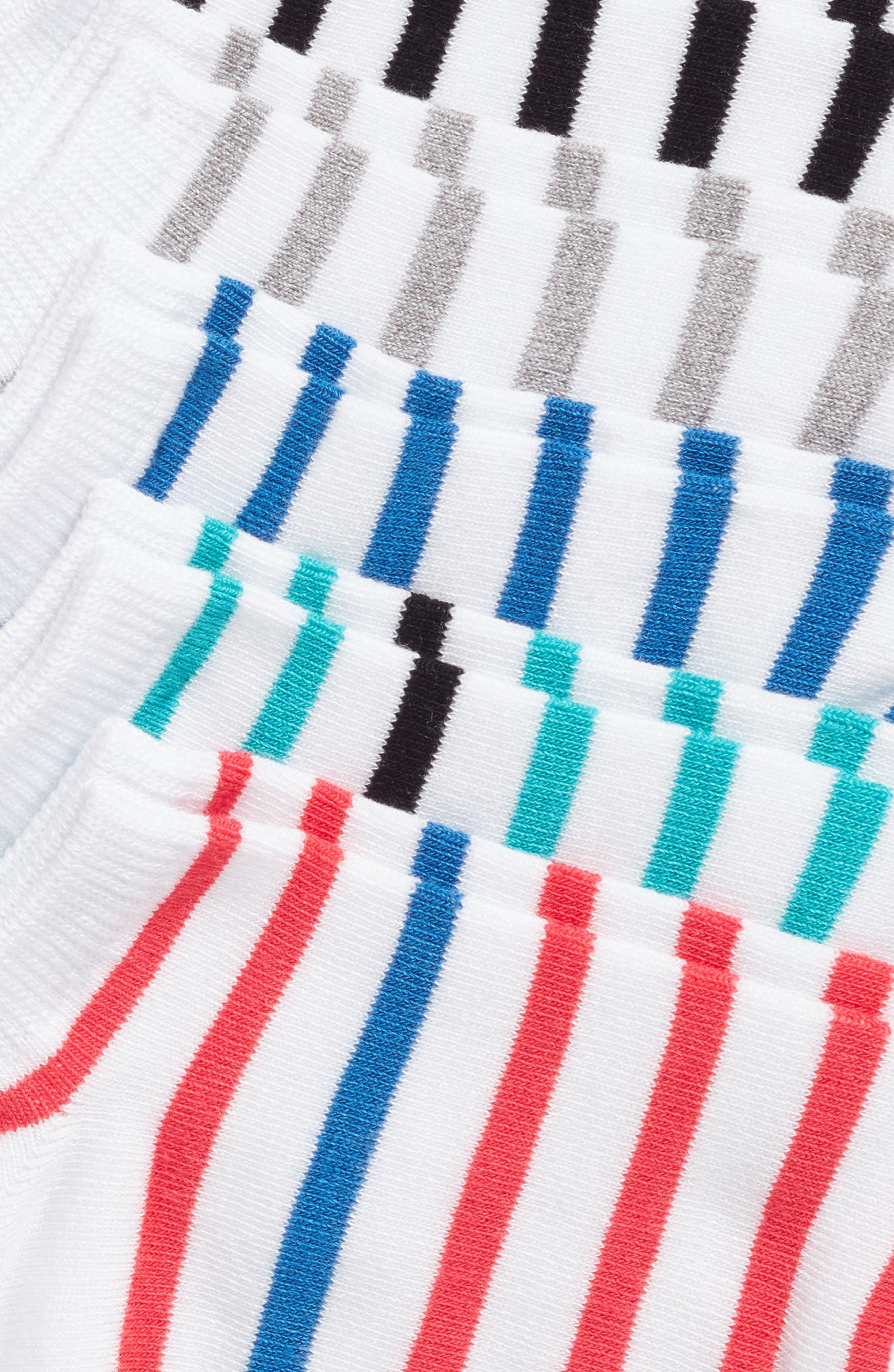 5-Pack Breton Stripe Socks,                             Alternate thumbnail 2, color,                             White