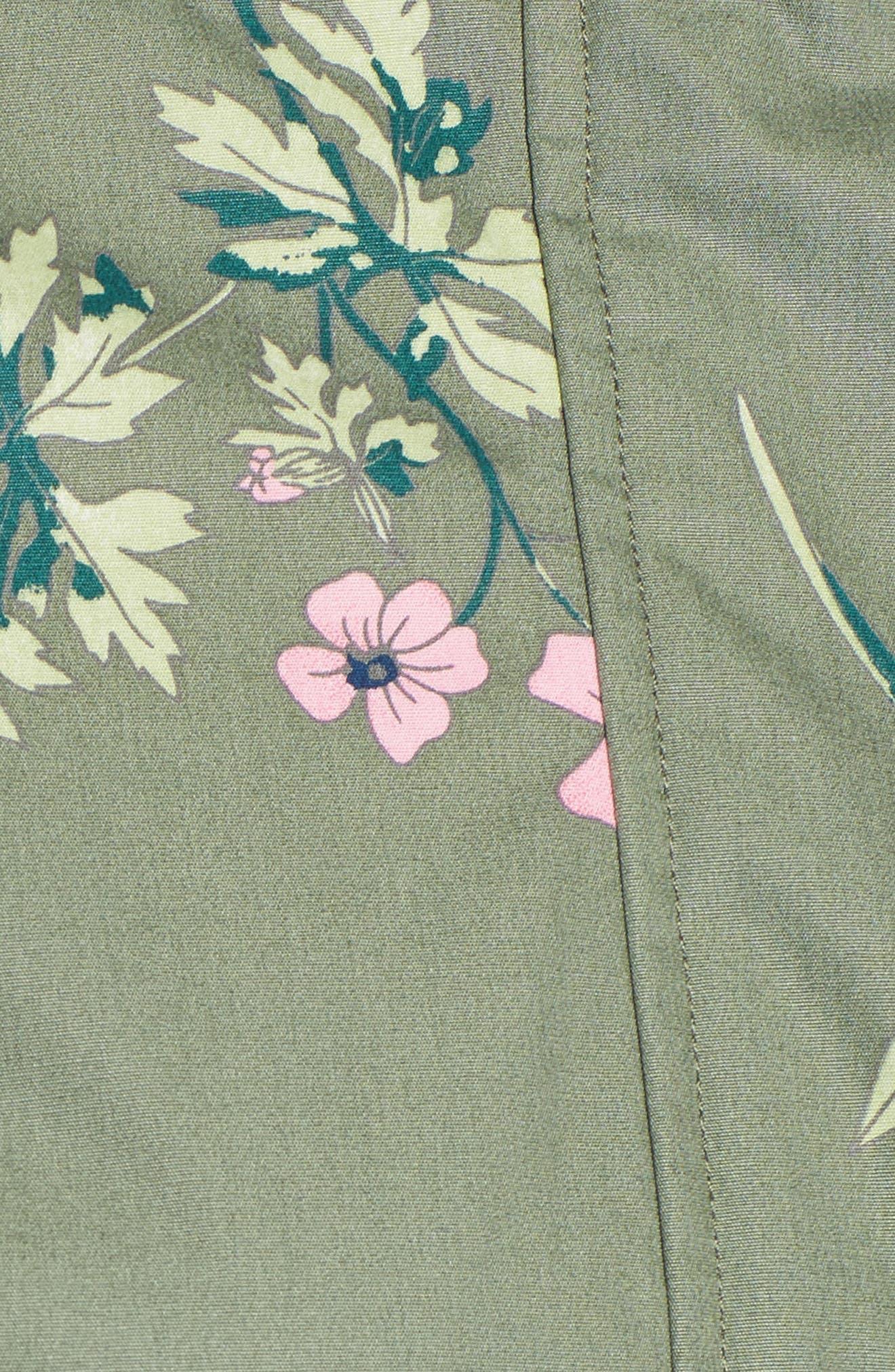 Right as Rain - Coastline Waterproof Cotton Jacket,                             Alternate thumbnail 5, color,                             Laurel Botanical