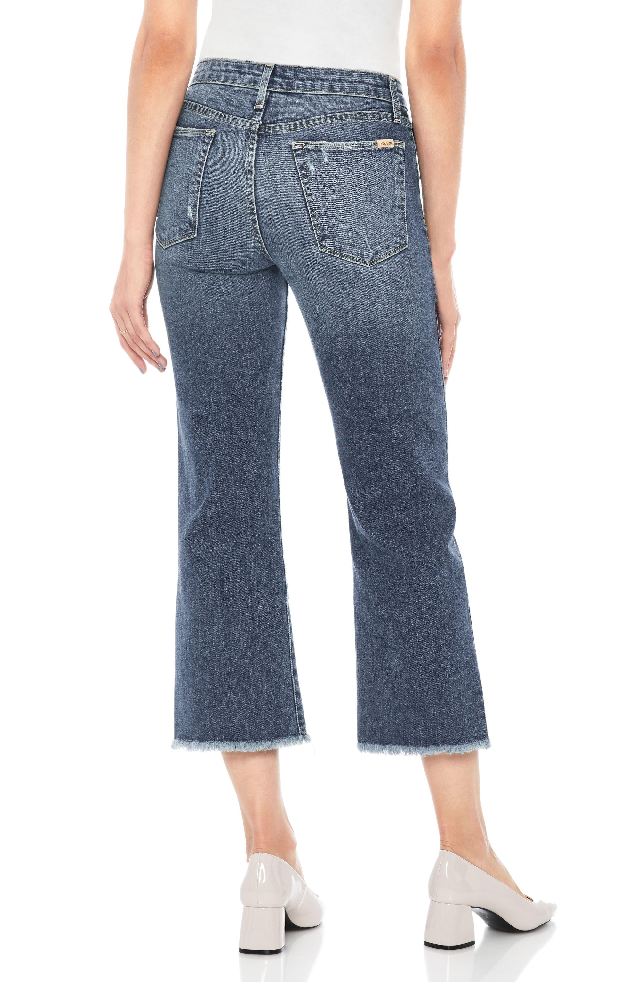 Wyatt Crop Wide Leg Jeans,                             Alternate thumbnail 2, color,                             Saxon