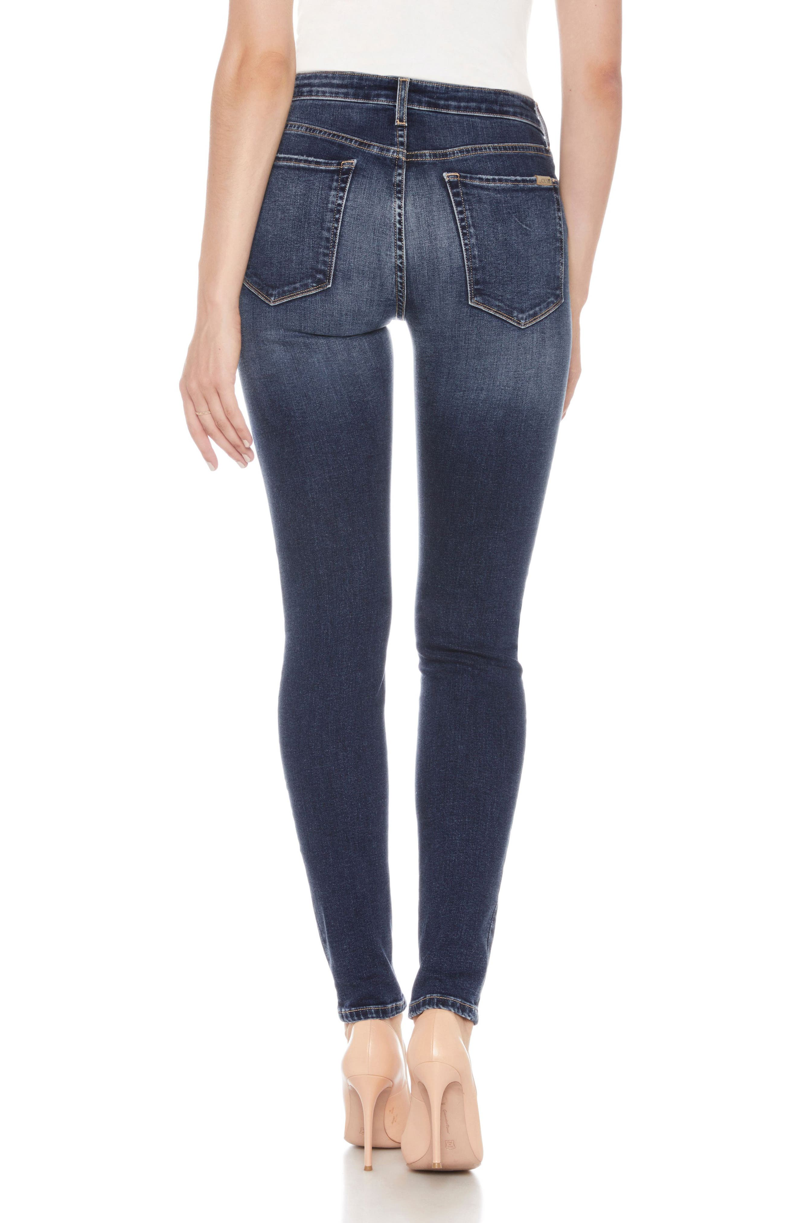 Flawless - Icon Ankle Skinny Jeans,                             Alternate thumbnail 2, color,                             Mandala