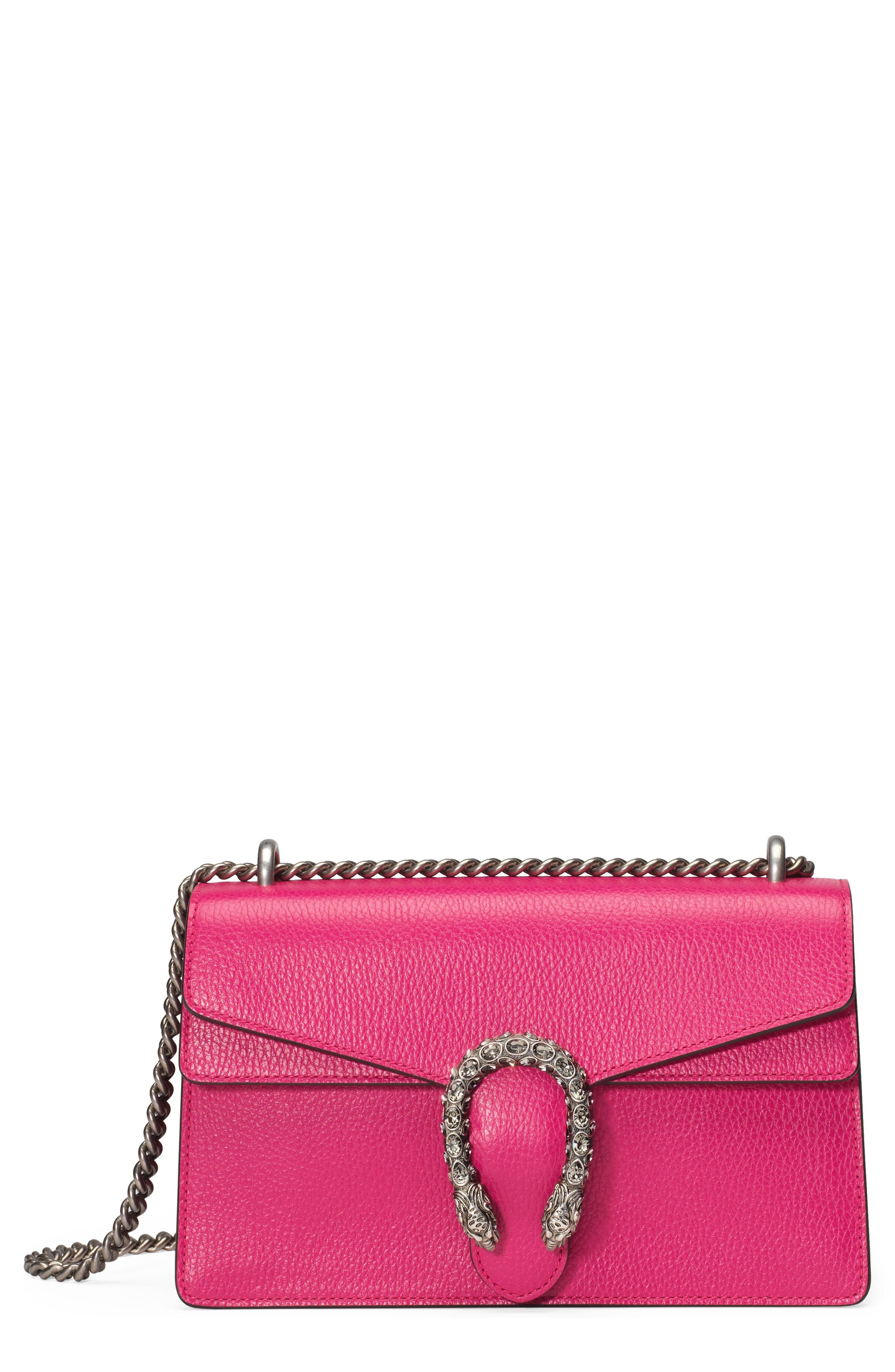 GUCCI SMALL DIONYSUS LEATHER SHOULDER BAG - PINK