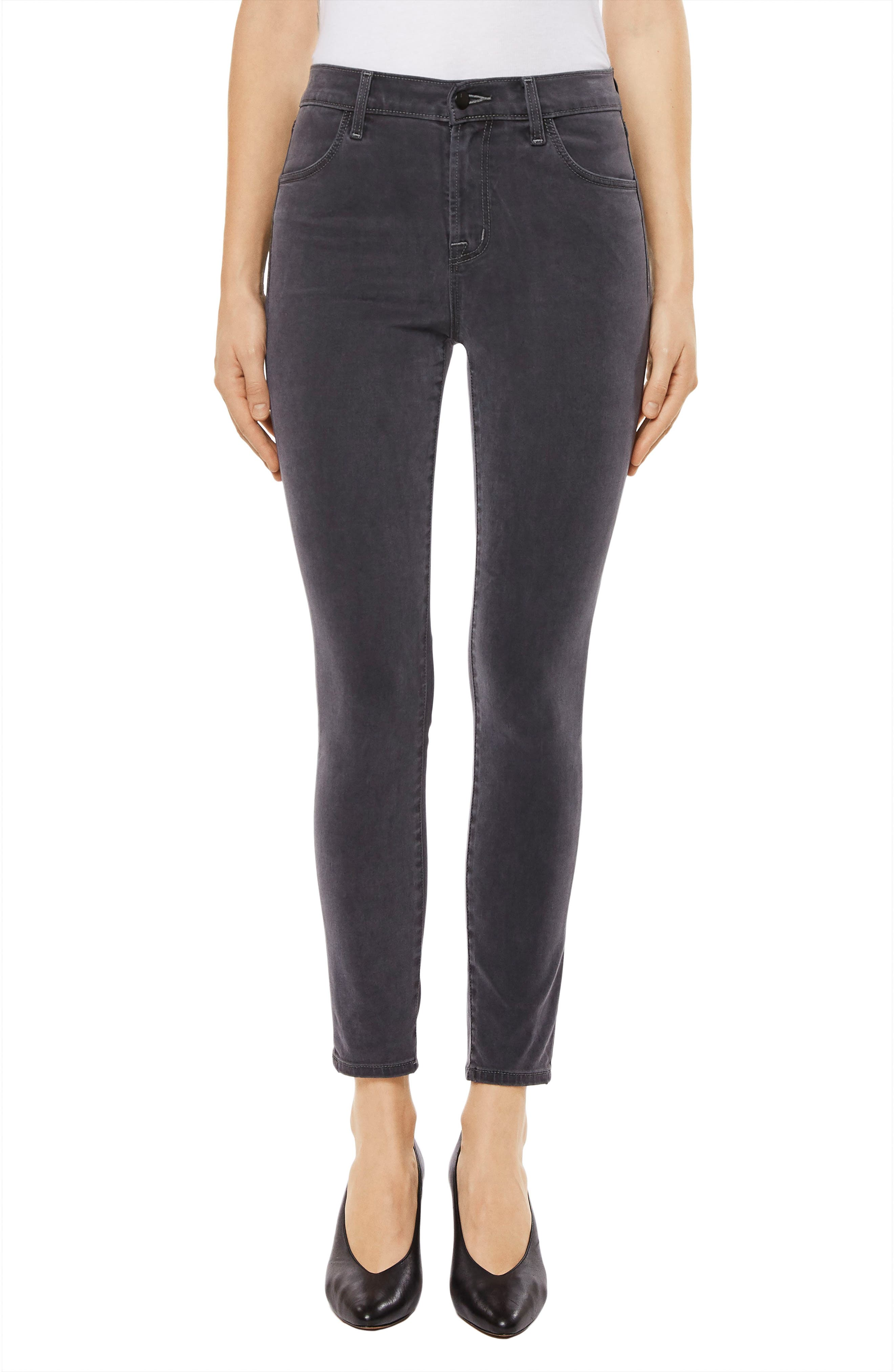 Alternate Image 1 Selected - J Brand Alana High Waist Crop Skinny Jeans (Dust)