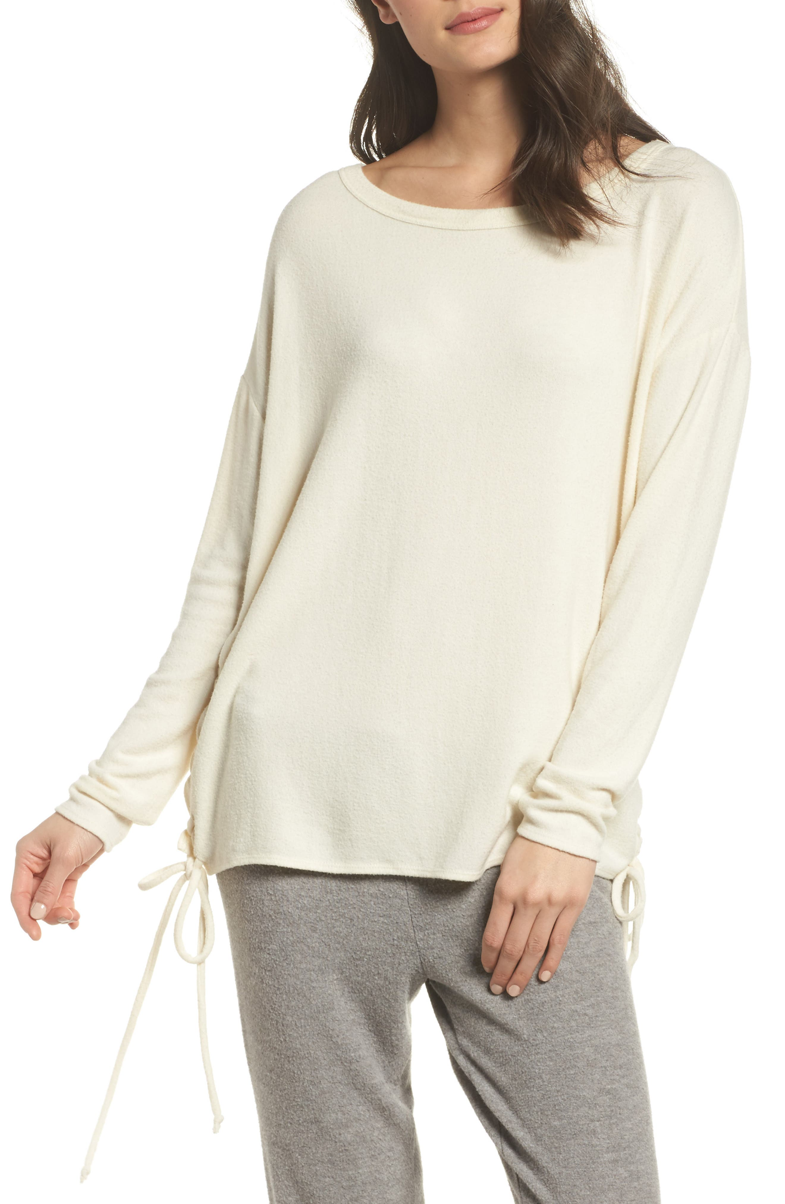Alternate Image 1 Selected - Chaser Lace-Up Side Pullover