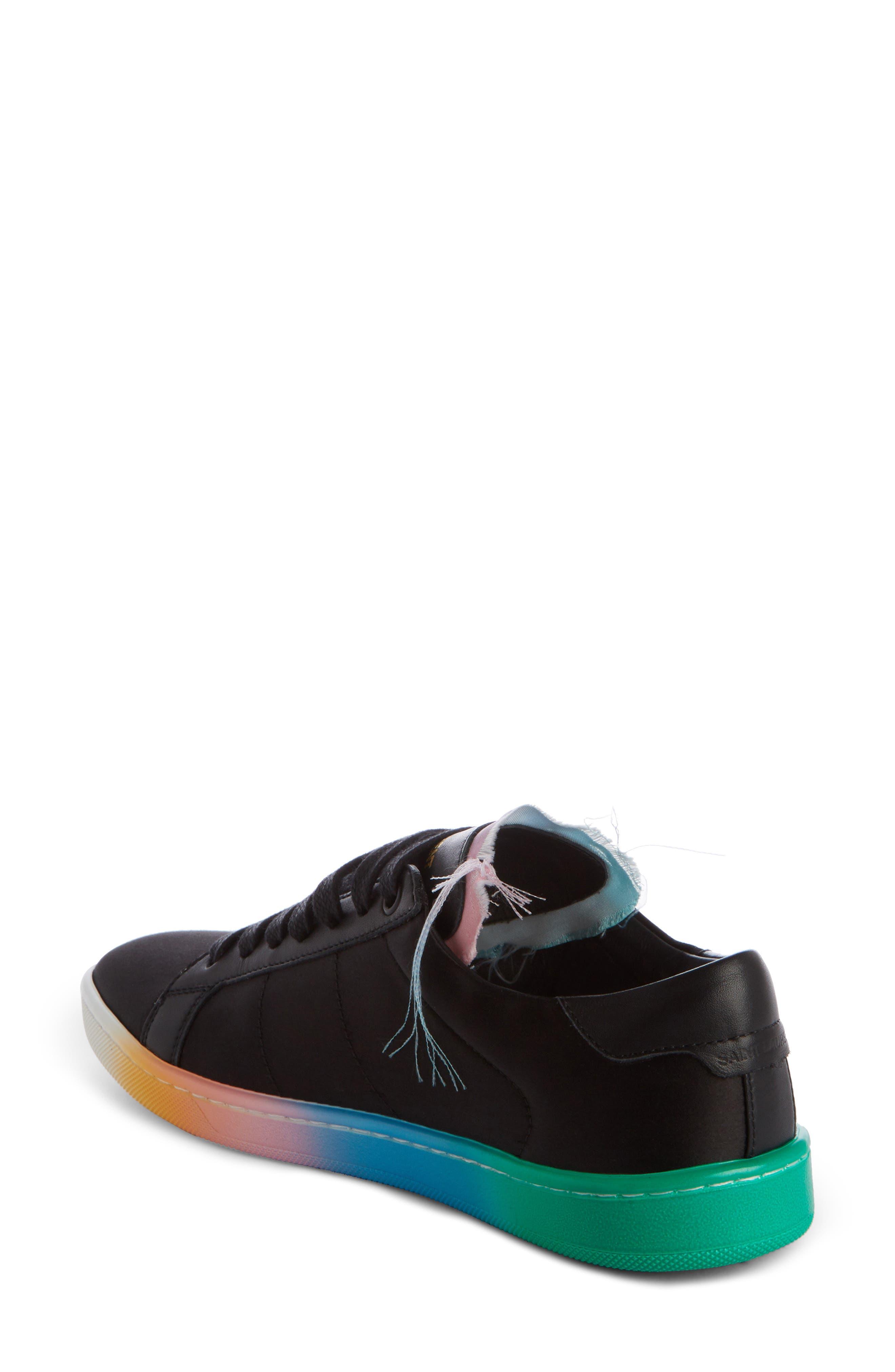 Court Classic Rainbow Sole Sneaker,                             Alternate thumbnail 2, color,                             Black Multi