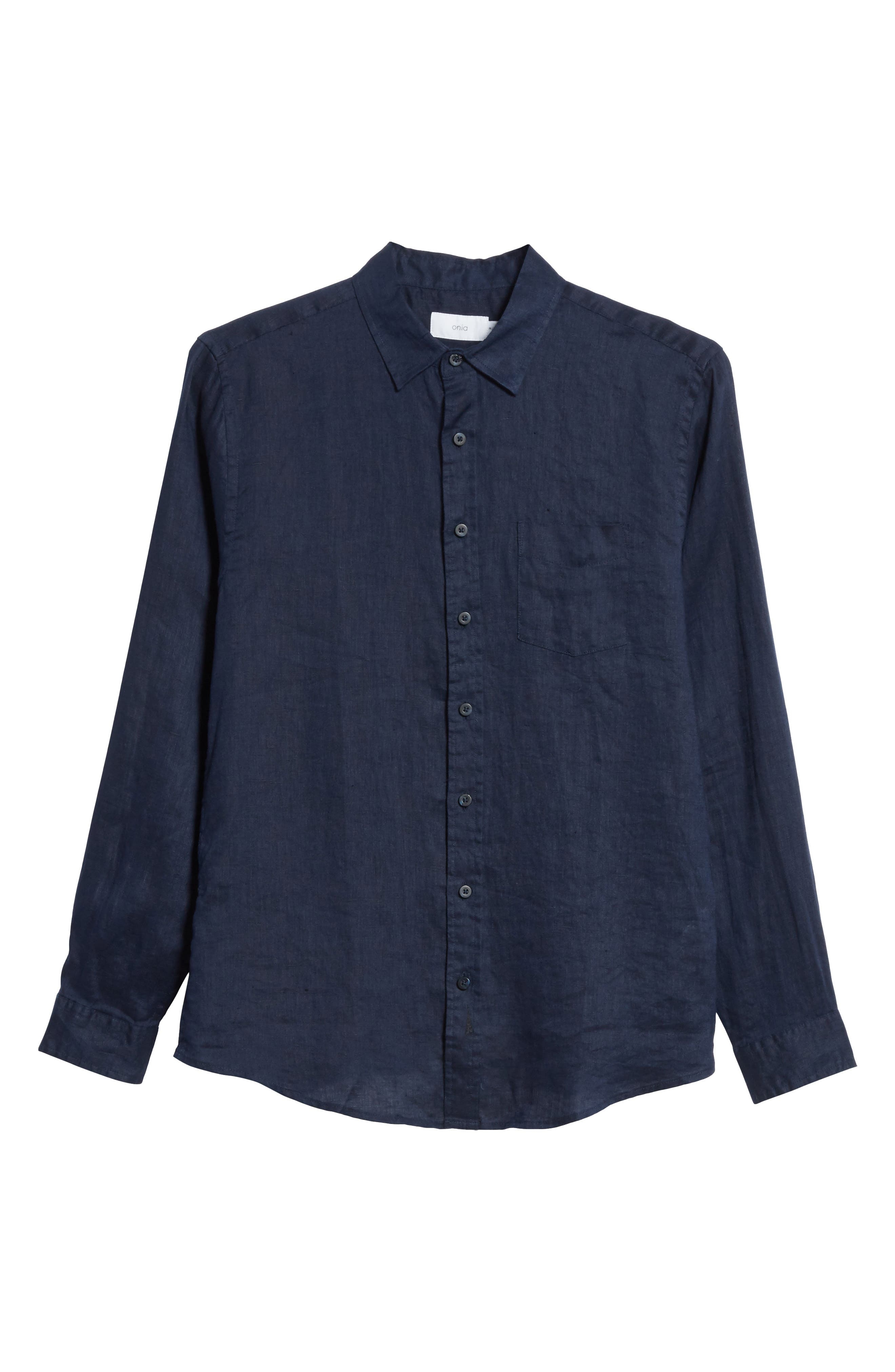 Alternate Image 6  - ONIA Abe Linen Shirt