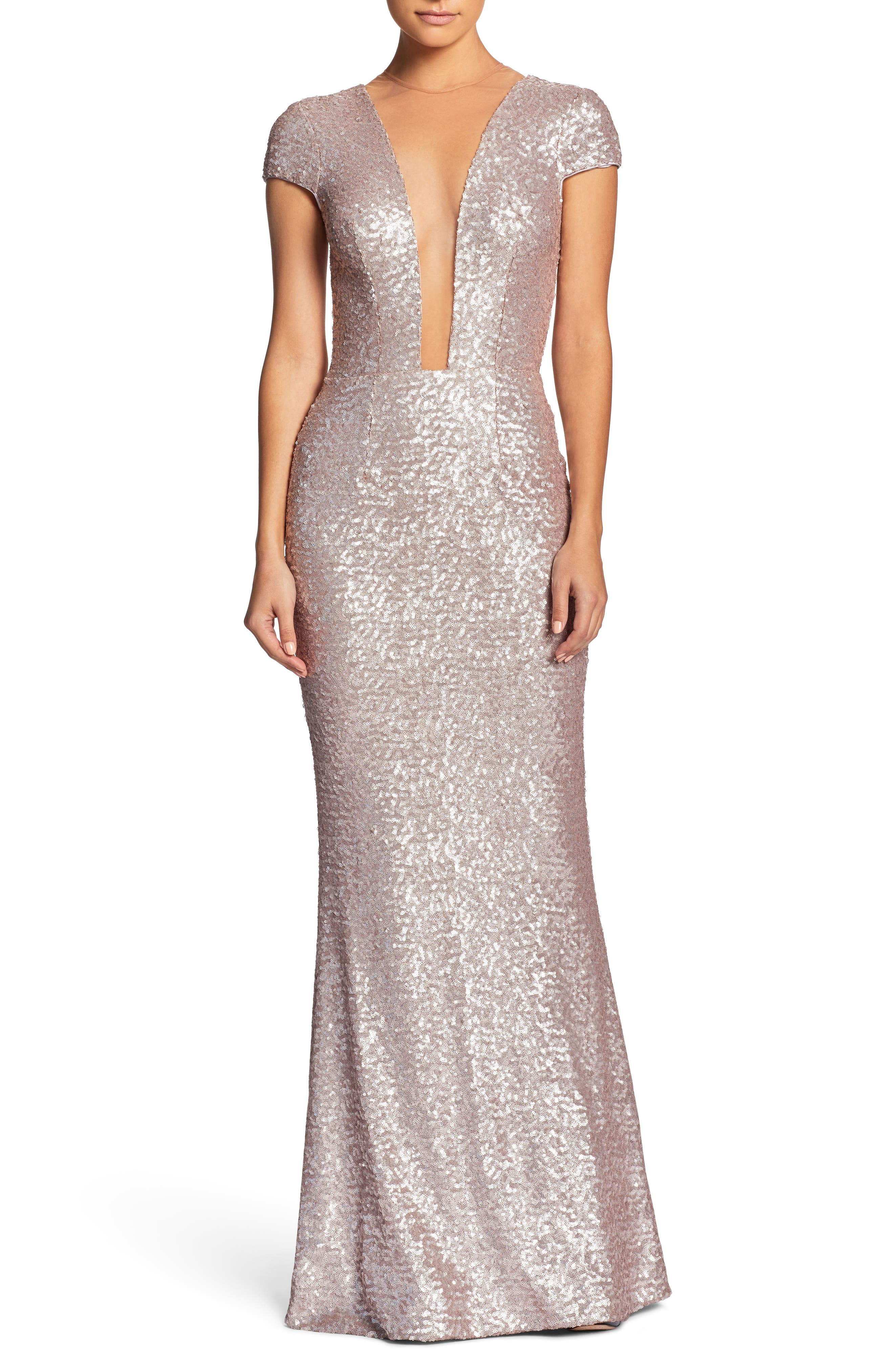 Alternate Image 1 Selected - Dress the Population Michelle Sequin Gown (Nordstrom Exclusive)