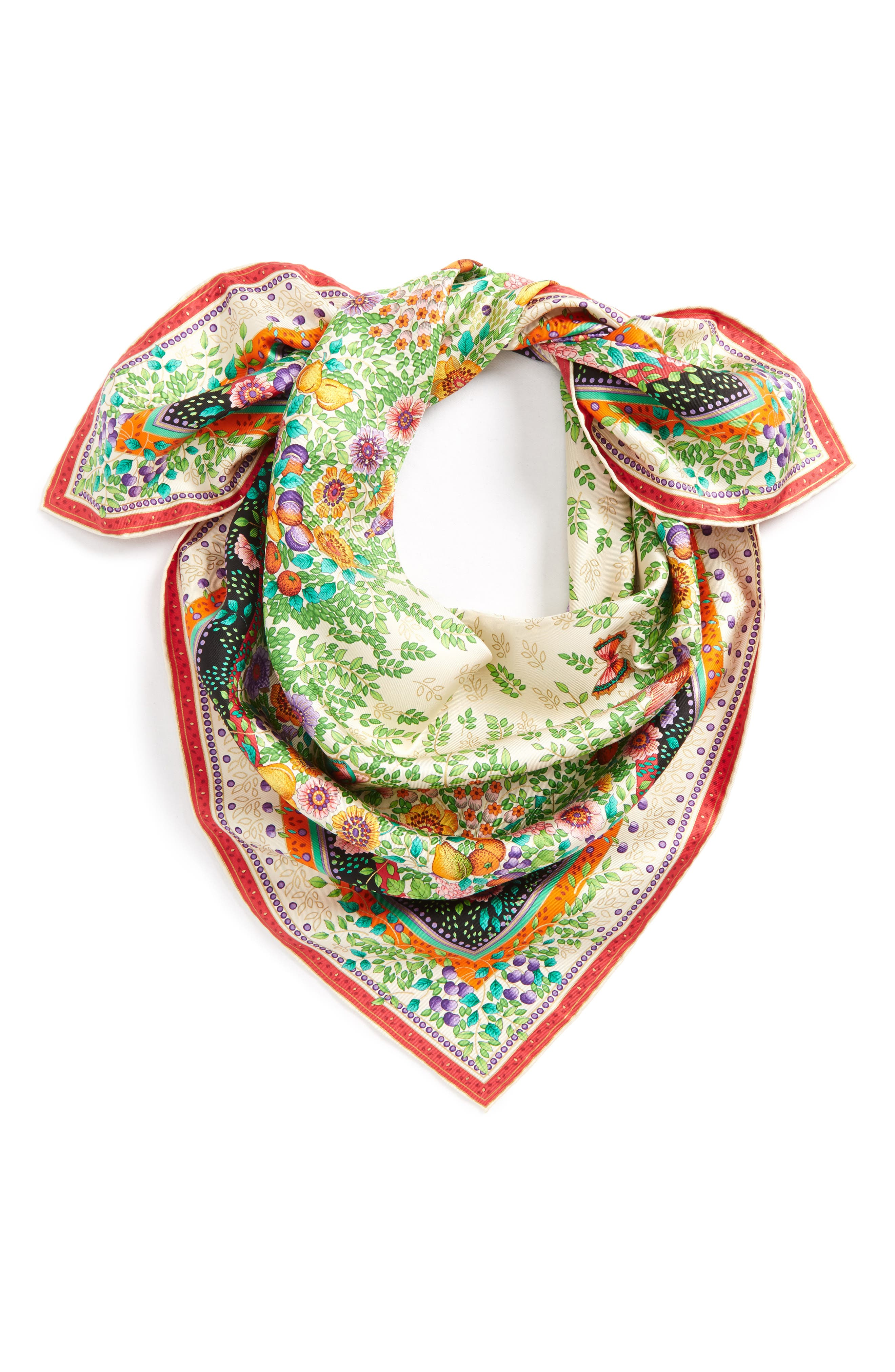 Alternate Image 2  - Gucci Liberty Flowers Fouland Silk Square Scarf