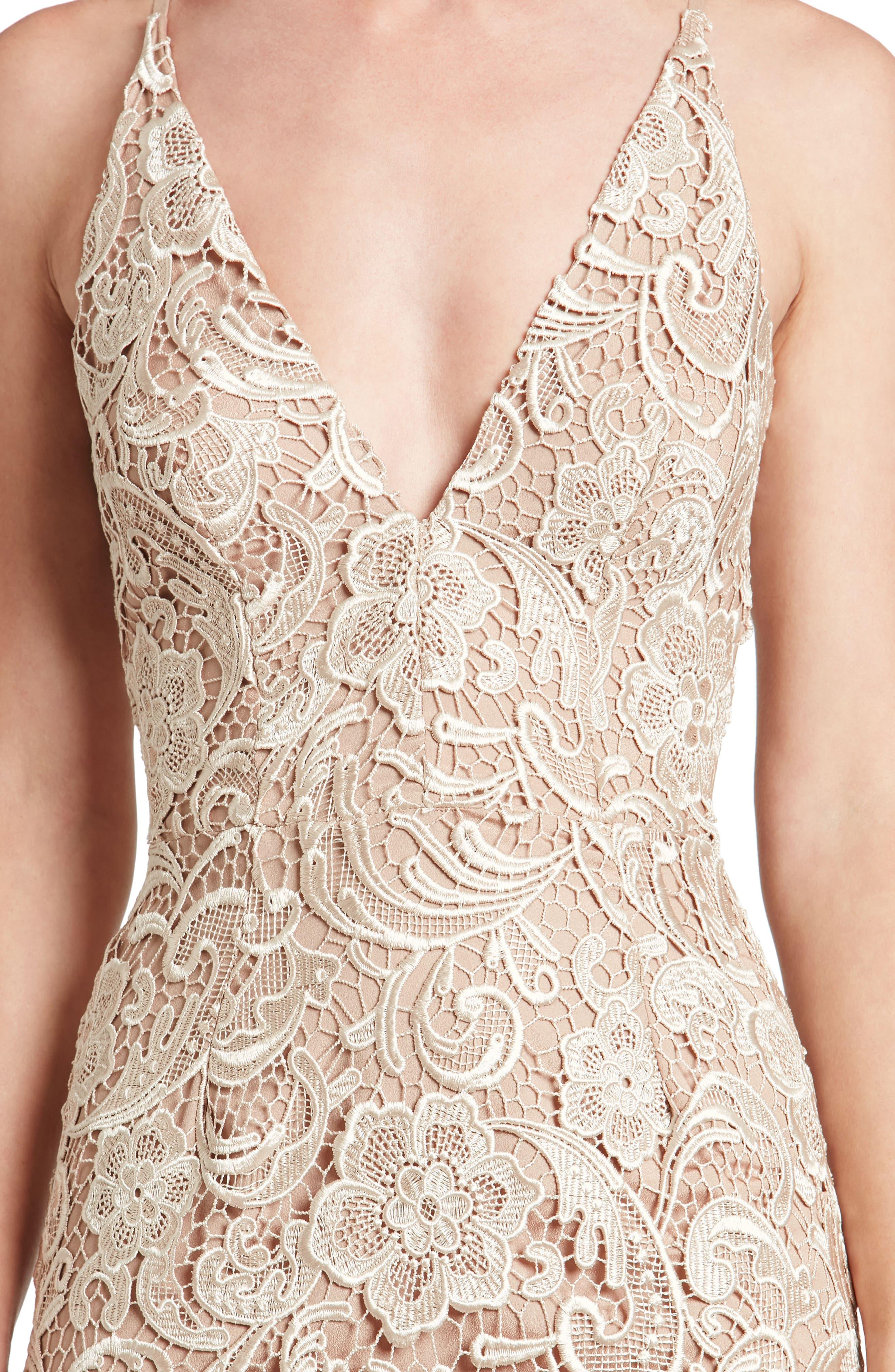 Alternate Image 5  - Dress the Population Sophia Crochet Lace Mermaid Gown