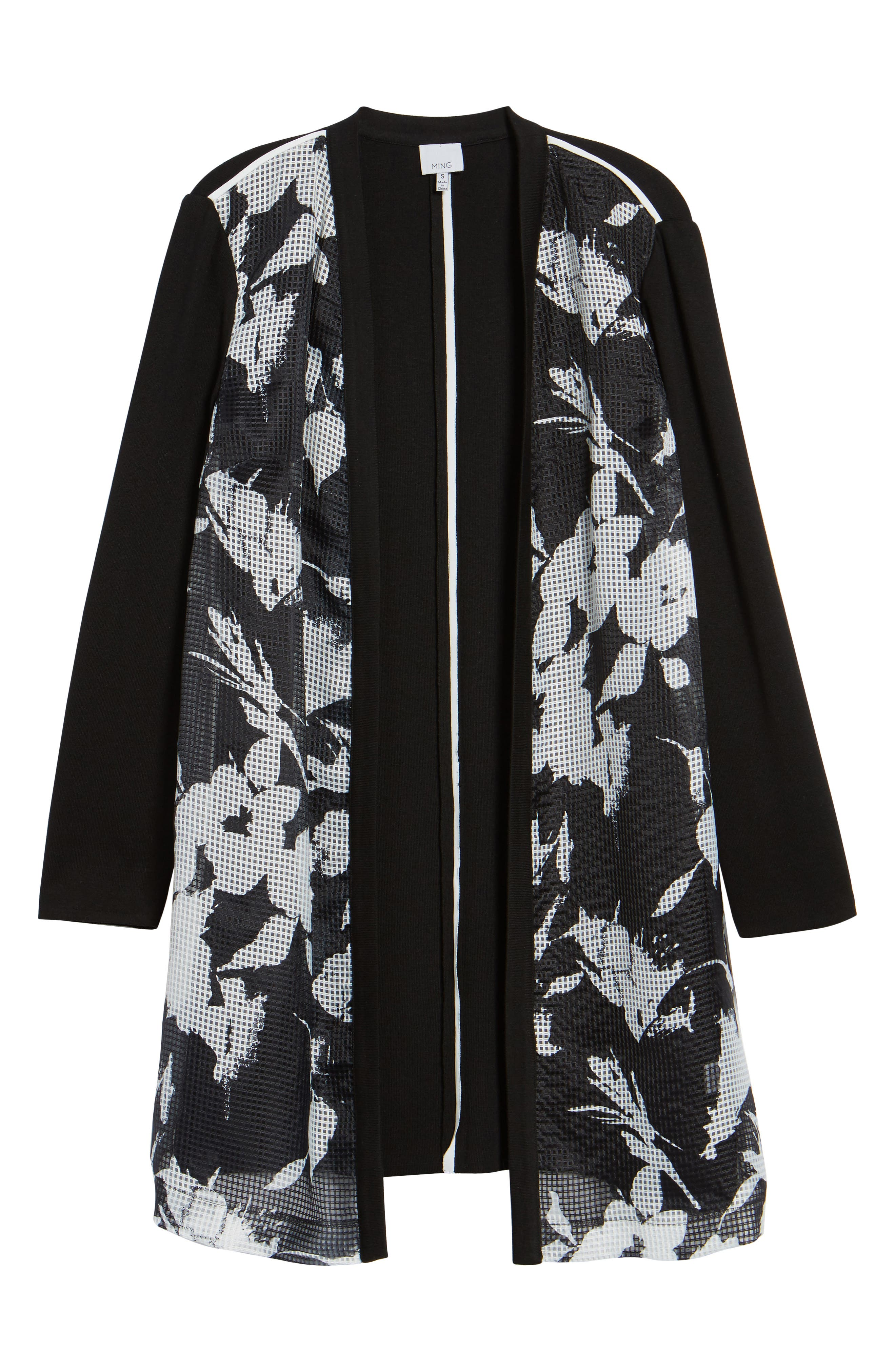 Alternate Image 6  - Ming Wang Open Front Floral Jacket