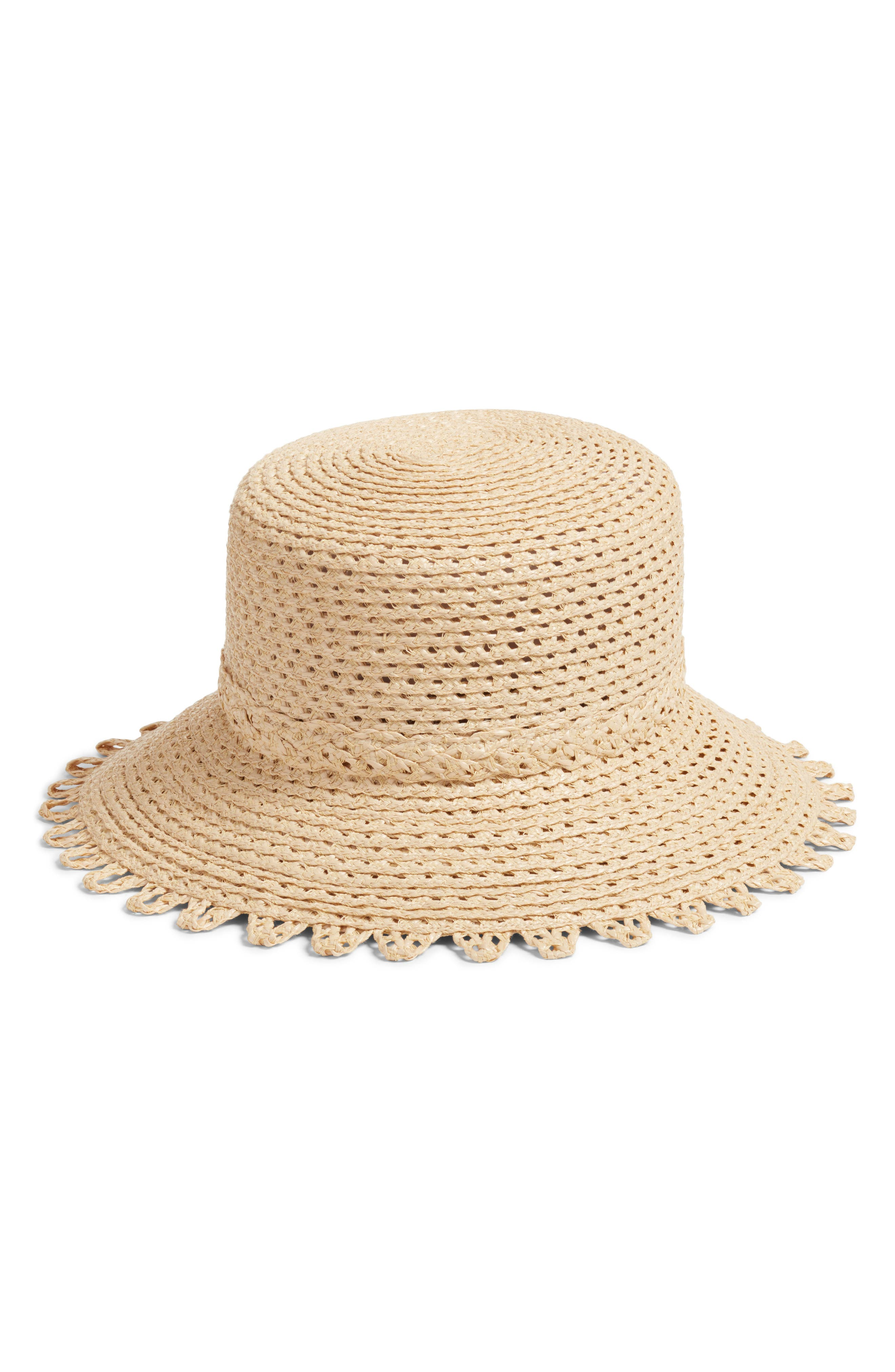 Ibiza Squishee<sup>®</sup> Bucket Hat,                             Main thumbnail 1, color,                             Flax