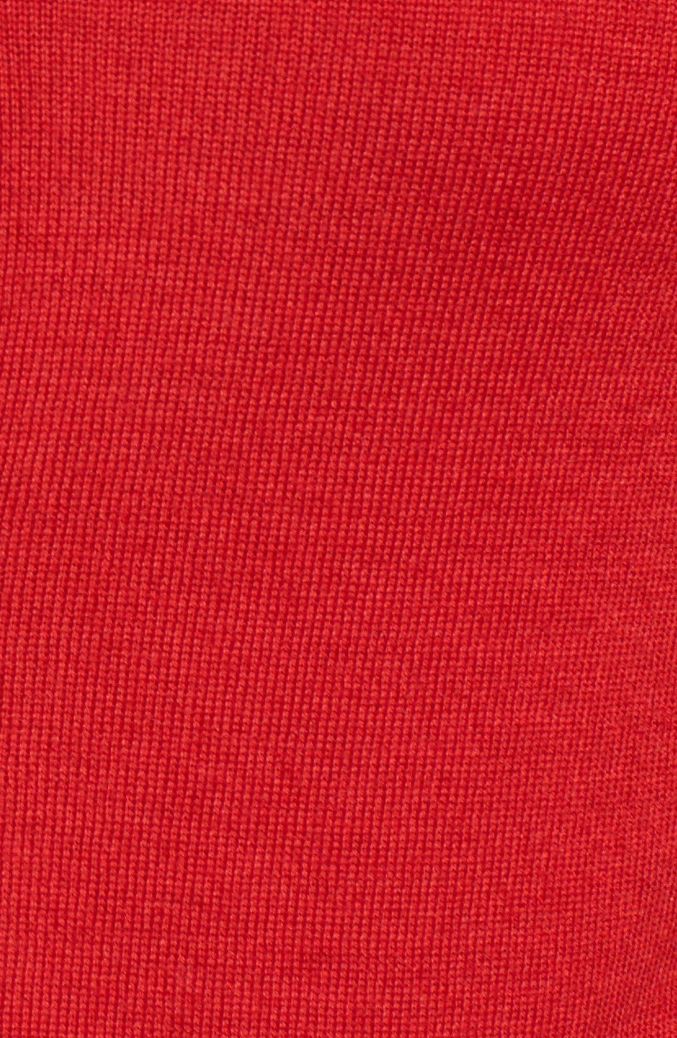 Fuyuma Wool Cardigan,                             Alternate thumbnail 5, color,                             Crimson Red