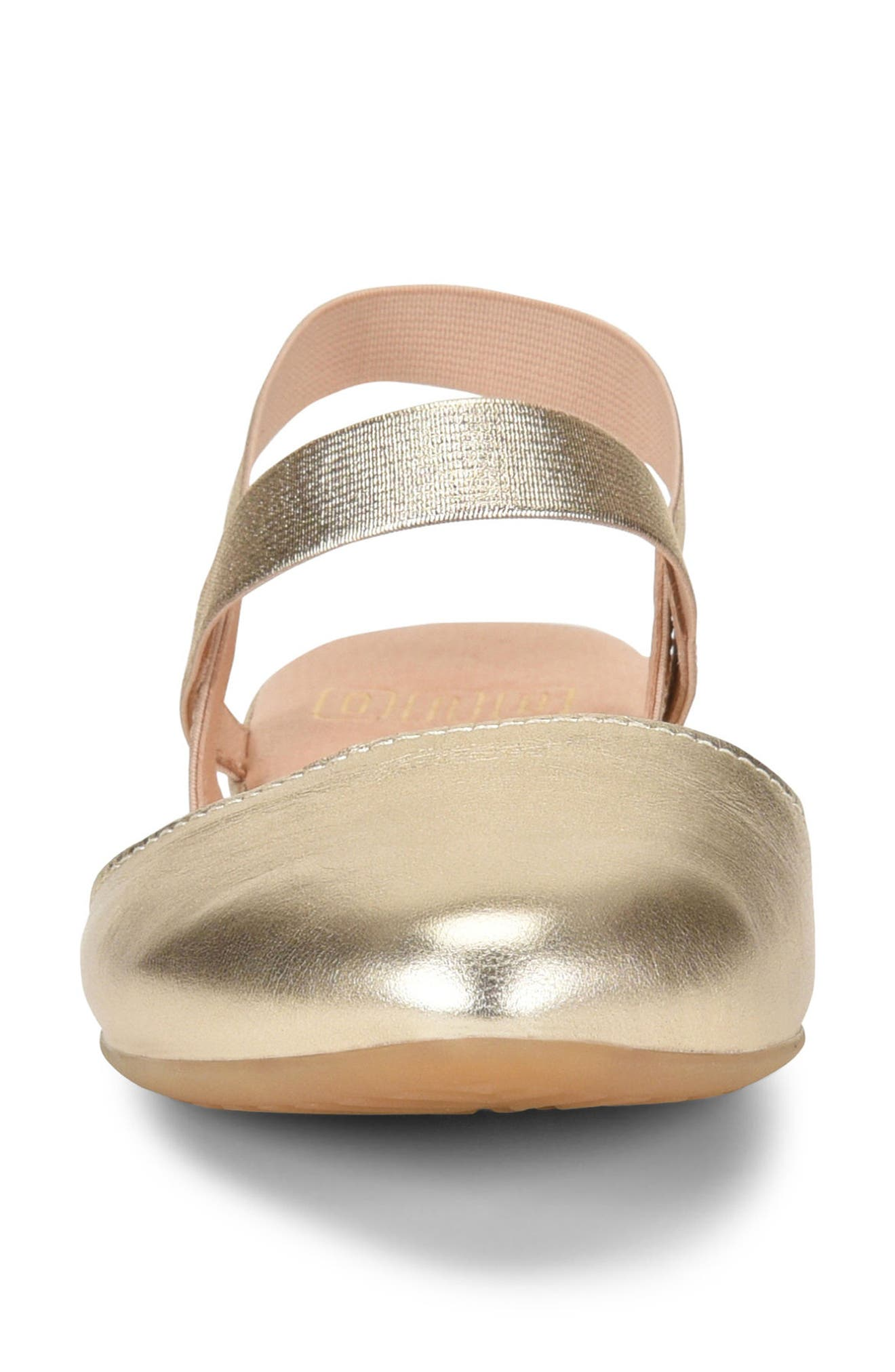 Free Ankle Strap Flat,                             Alternate thumbnail 4, color,                             Gold Metallic Leather