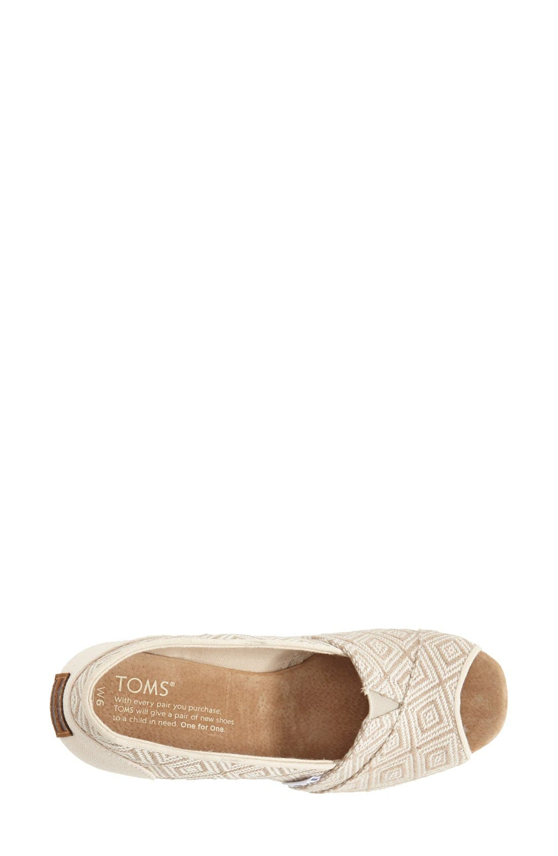 Alternate Image 3  - TOMS 'Classic' Woven Wedge Sandal (Women)