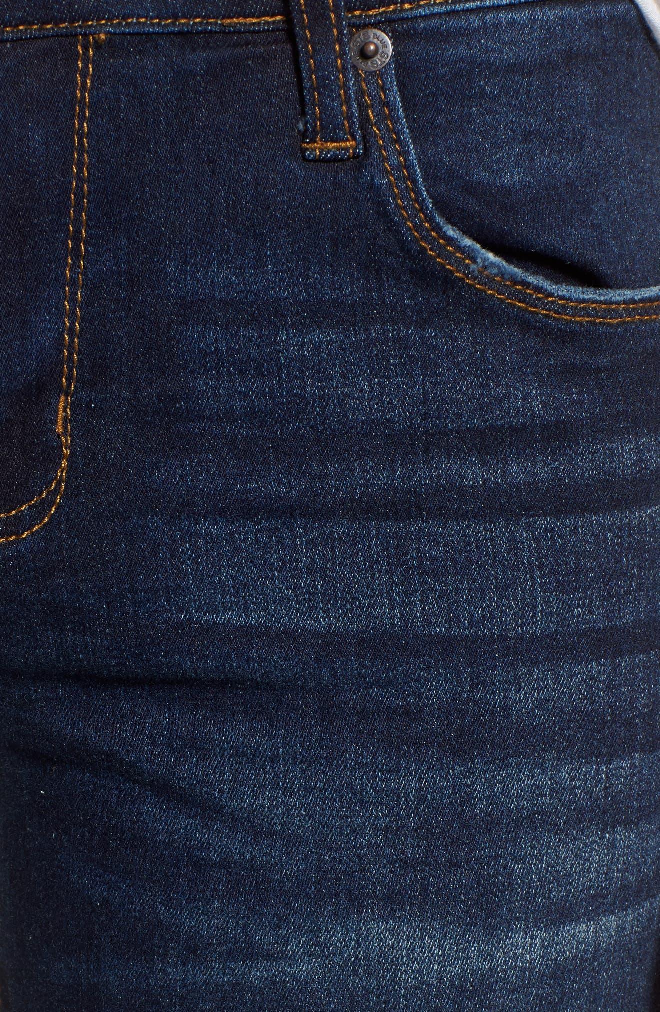 Alternate Image 5  - STS Blue Emma Frayed Hem Ankle Skinny Jeans (North La Canada)