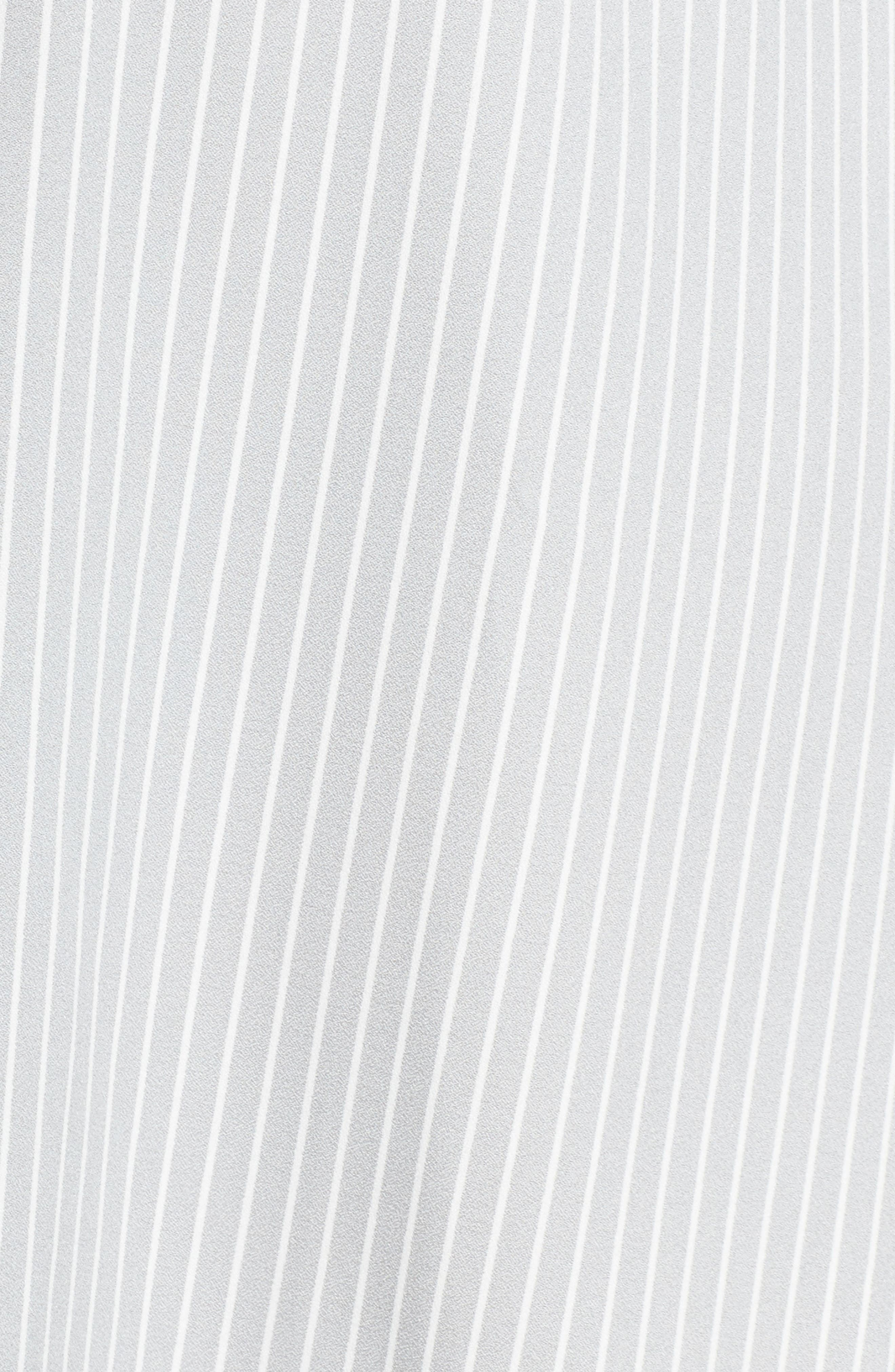 Check Ruffle Stripe Dress,                             Alternate thumbnail 6, color,                             Grey