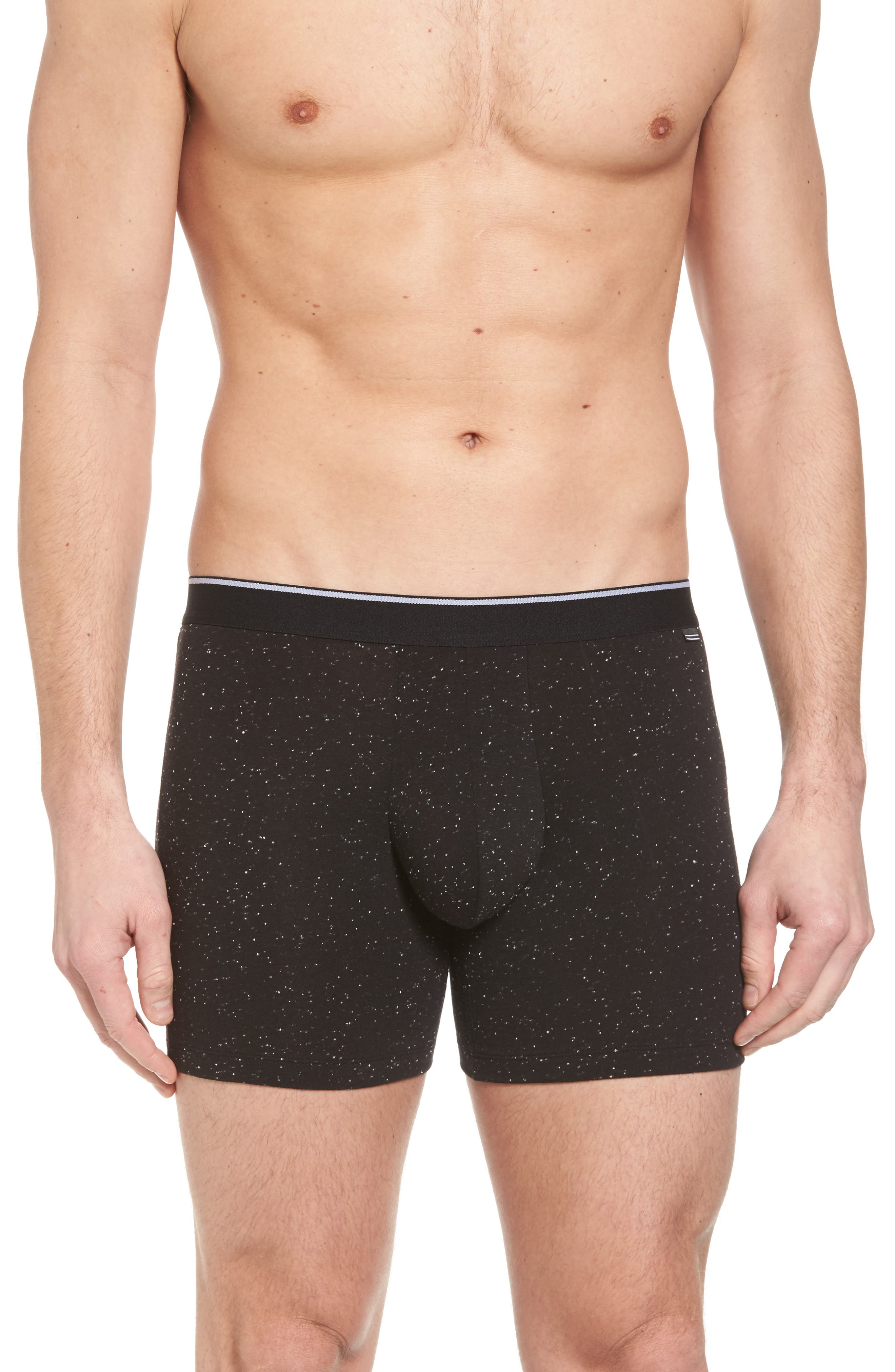 Nepped Boxer Briefs,                         Main,                         color, Black- White Nepps
