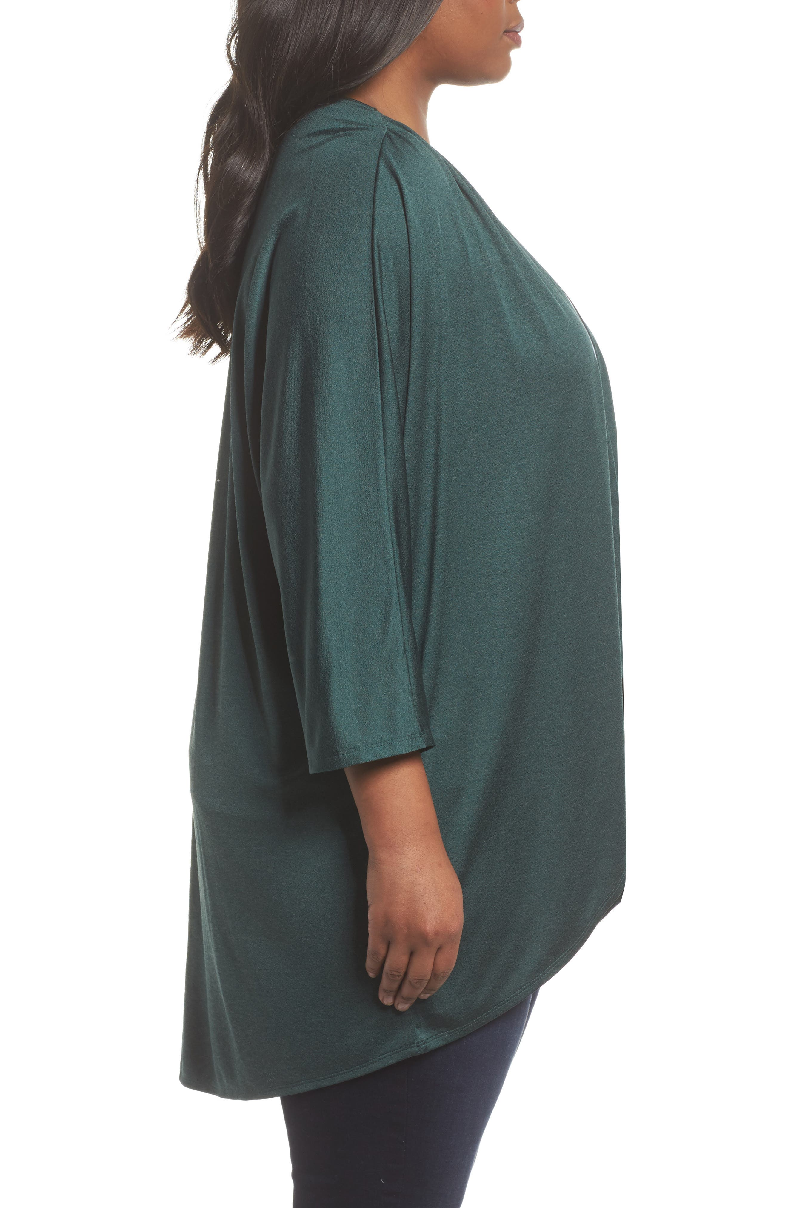 Cocoon Cardigan,                             Alternate thumbnail 3, color,                             Green Bug