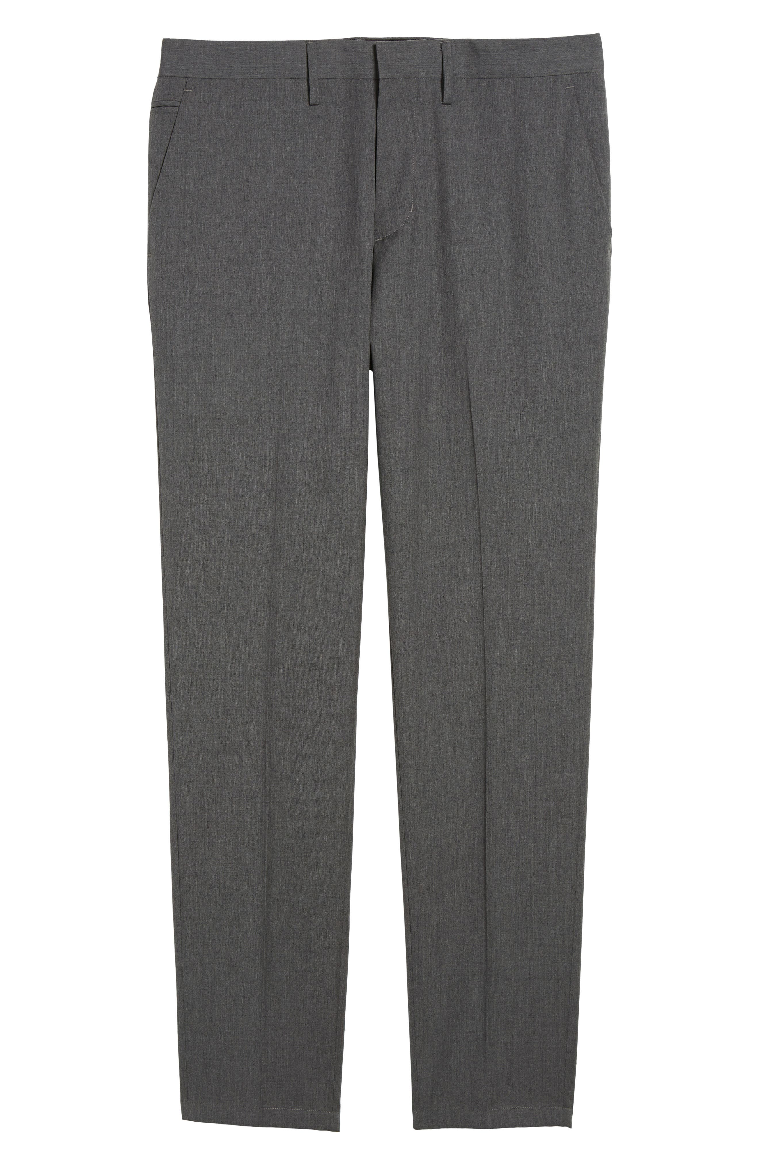 Slim Wool Trousers,                             Alternate thumbnail 5, color,                             Grey Magnet