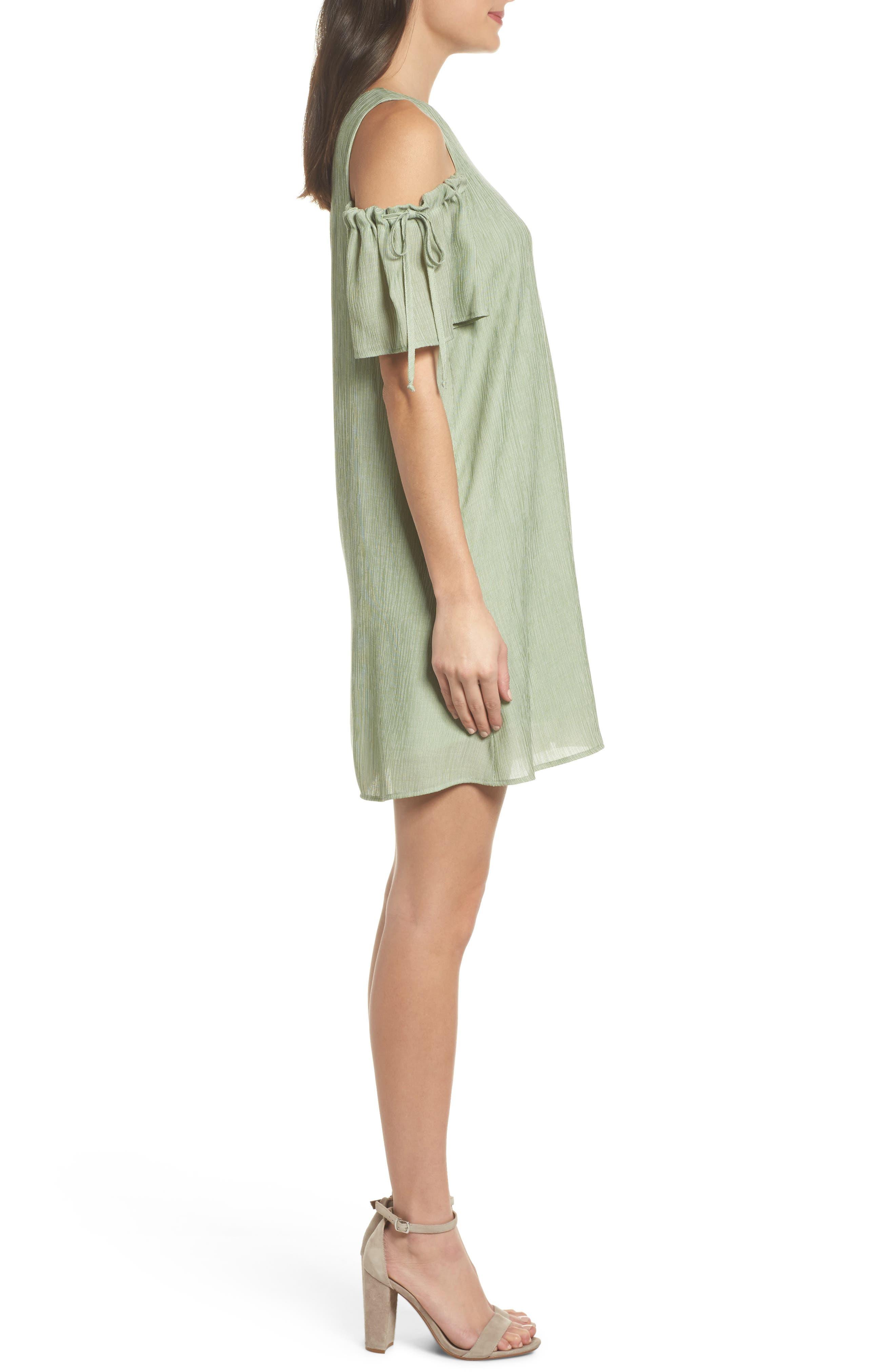 Alternate Image 3  - NSR Cold Shoulder Shift Dress
