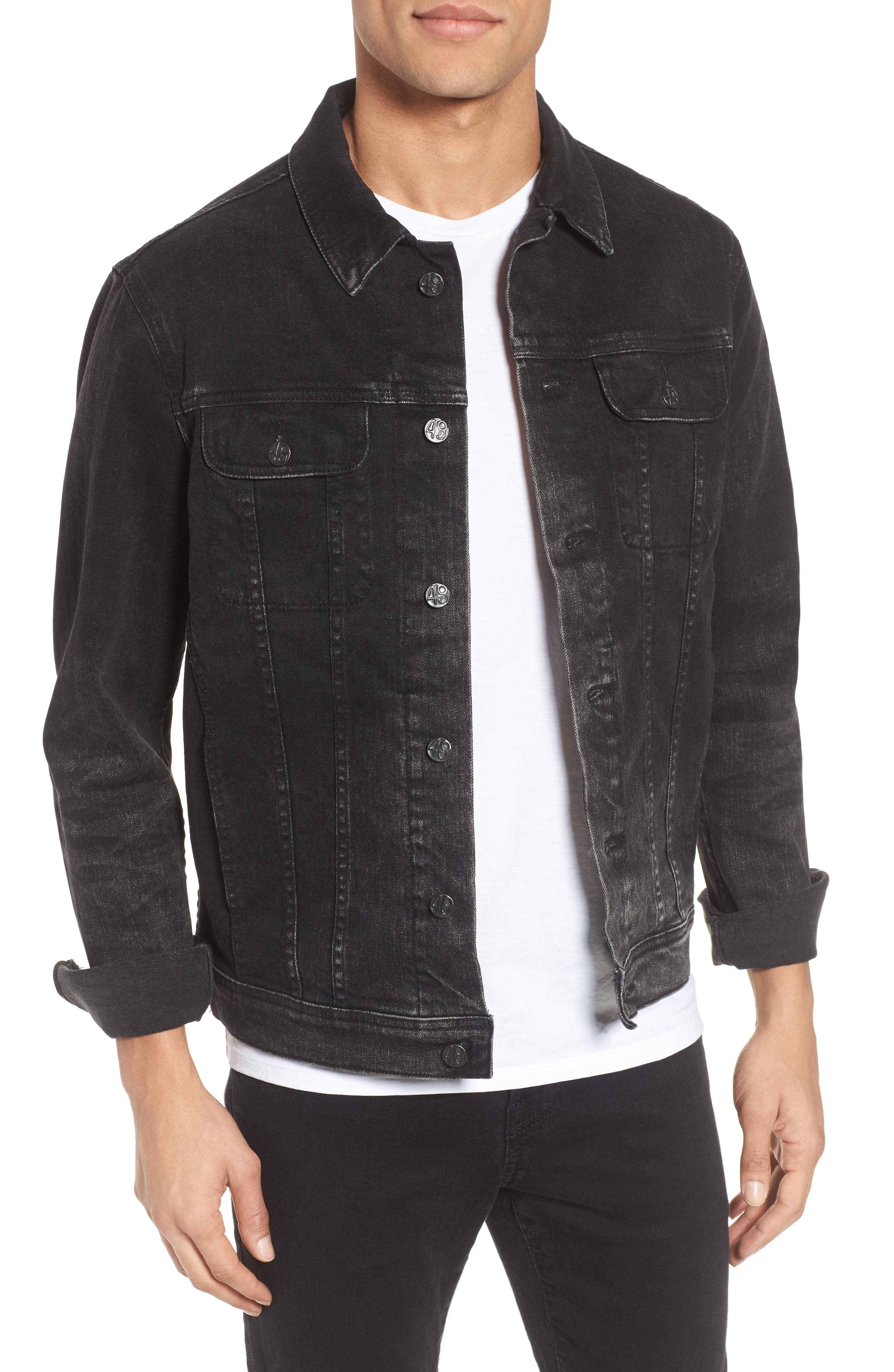 Dart Denim Jacket,                         Main,                         color, 9 Years Clouded
