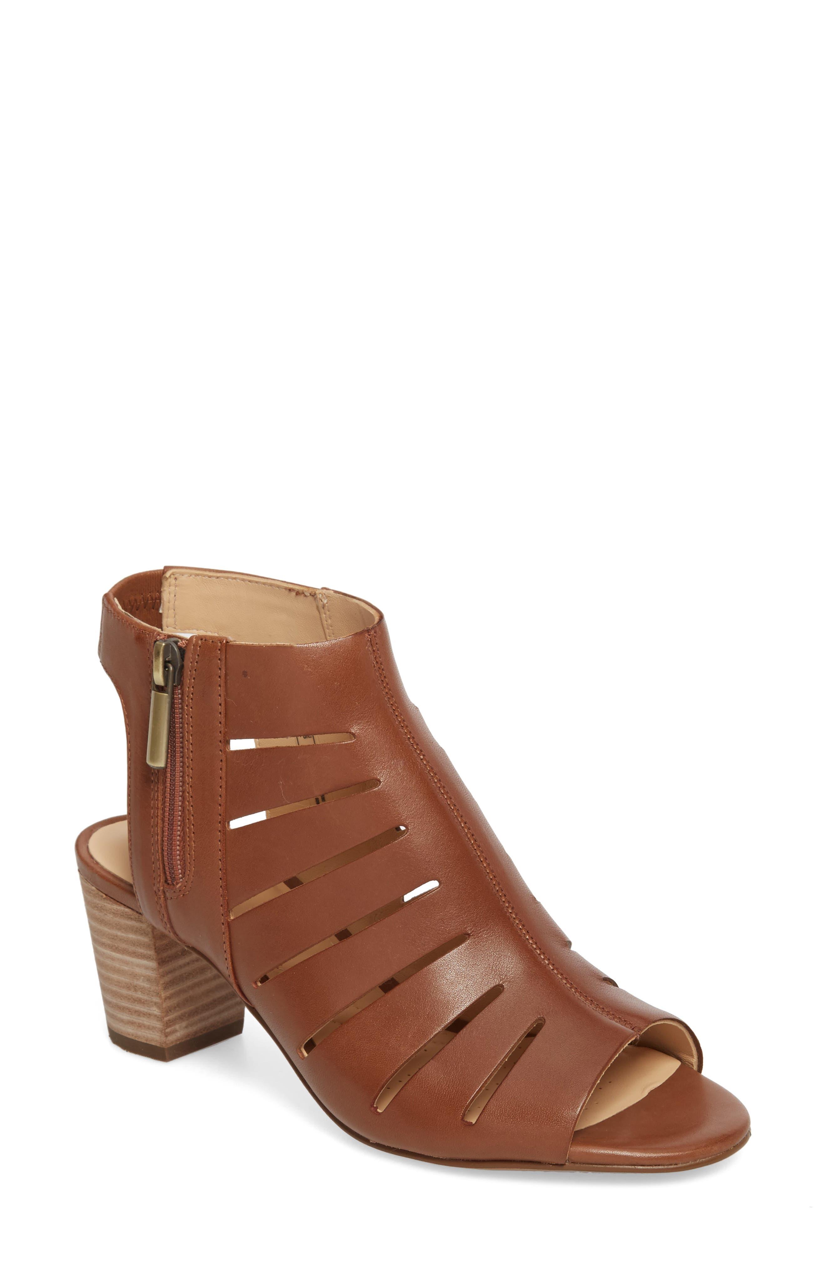 Deloria Ivy Sandal,                         Main,                         color, Tan Leather
